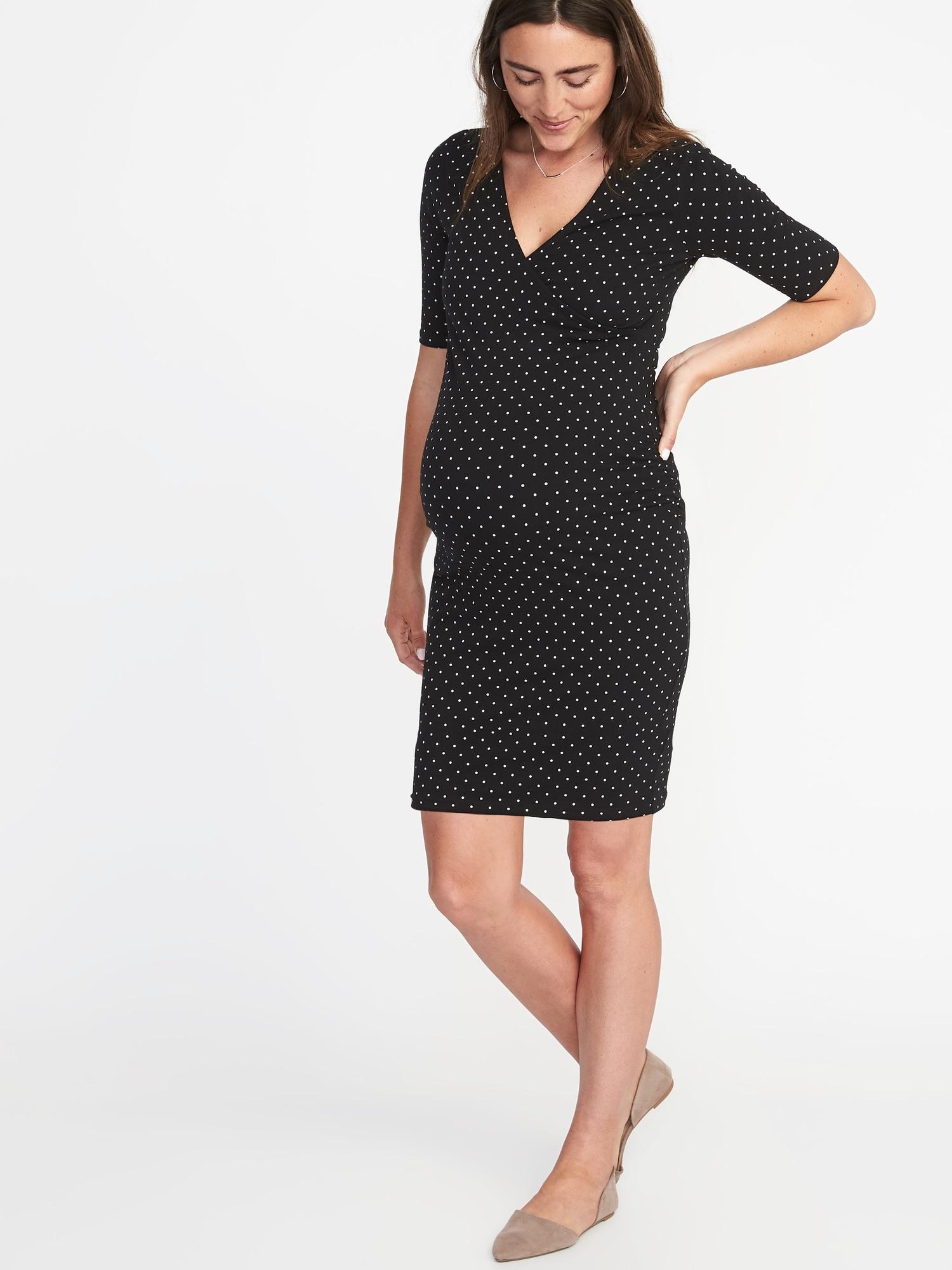 4e7aef3b851 Maternity Cross-Front Bodycon Dress