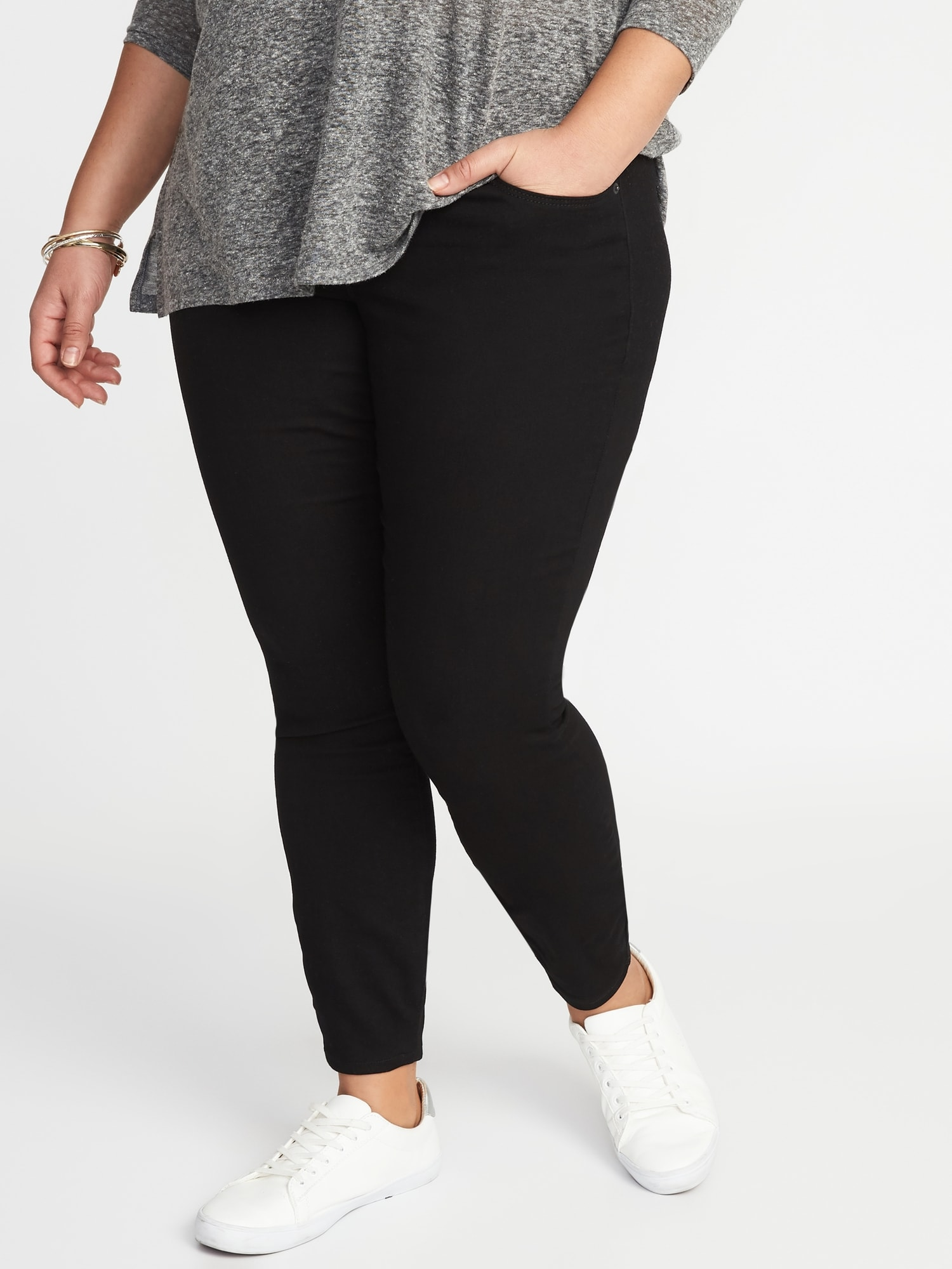 4309df44223 High-Rise Plus-Size Rockstar Jeggings