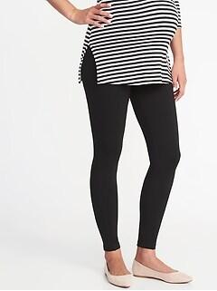 Pantalon de maternité Stevie en tricot ponte avec panneau complet