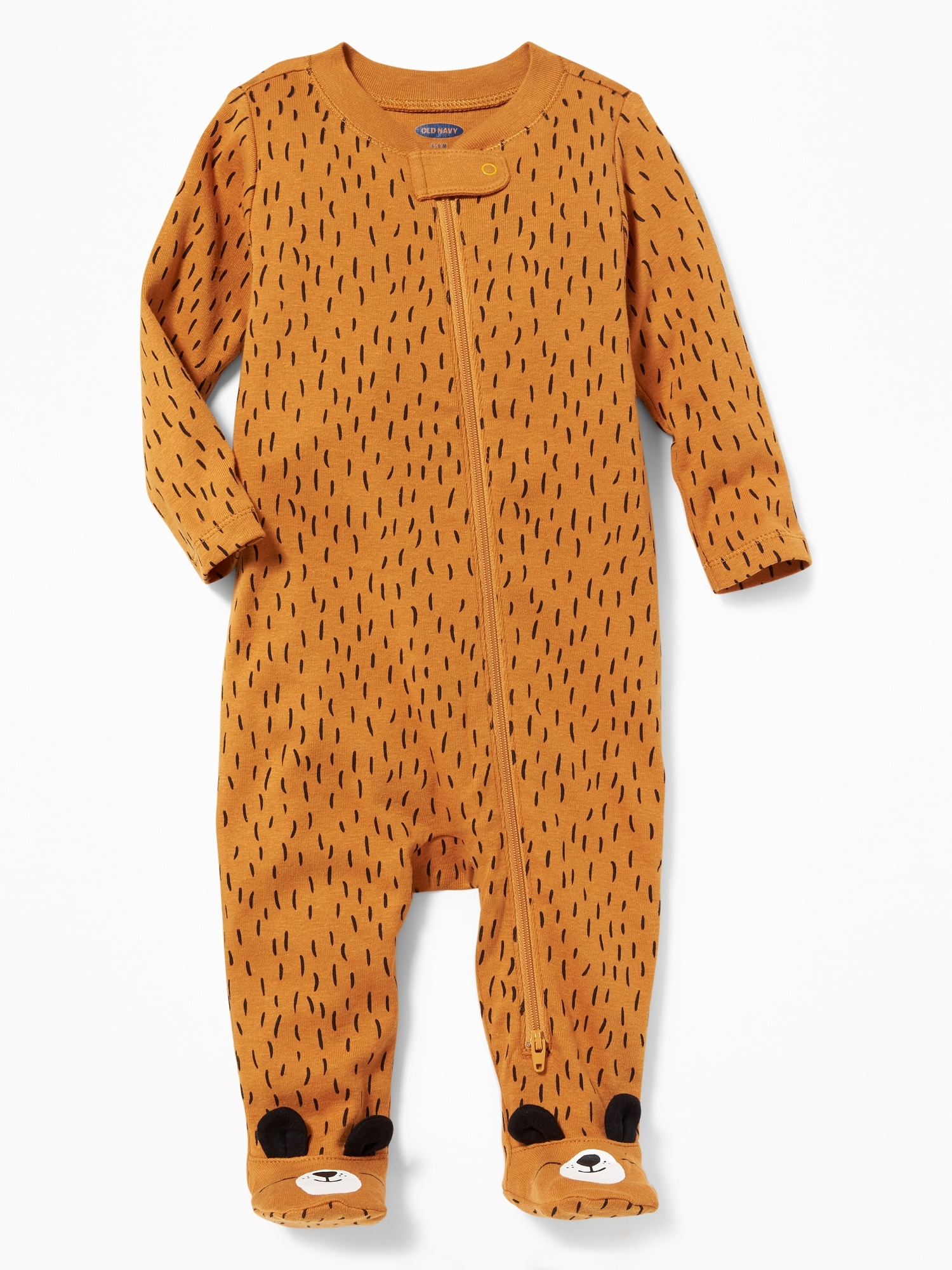 9bb4e06cf290 Bear-Critter Footed One-Piece for Baby
