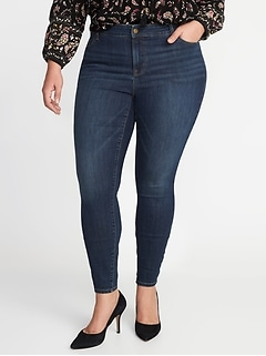 High-Waisted Plus-Size Rockstar Super Skinny Jeans