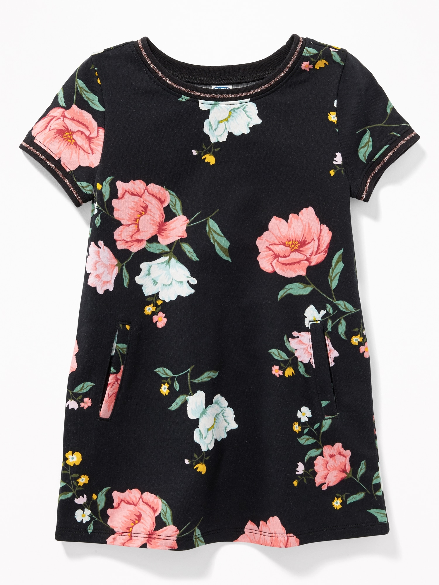 0b815dd7a Printed French-Terry Shift Dress for Toddler Girls