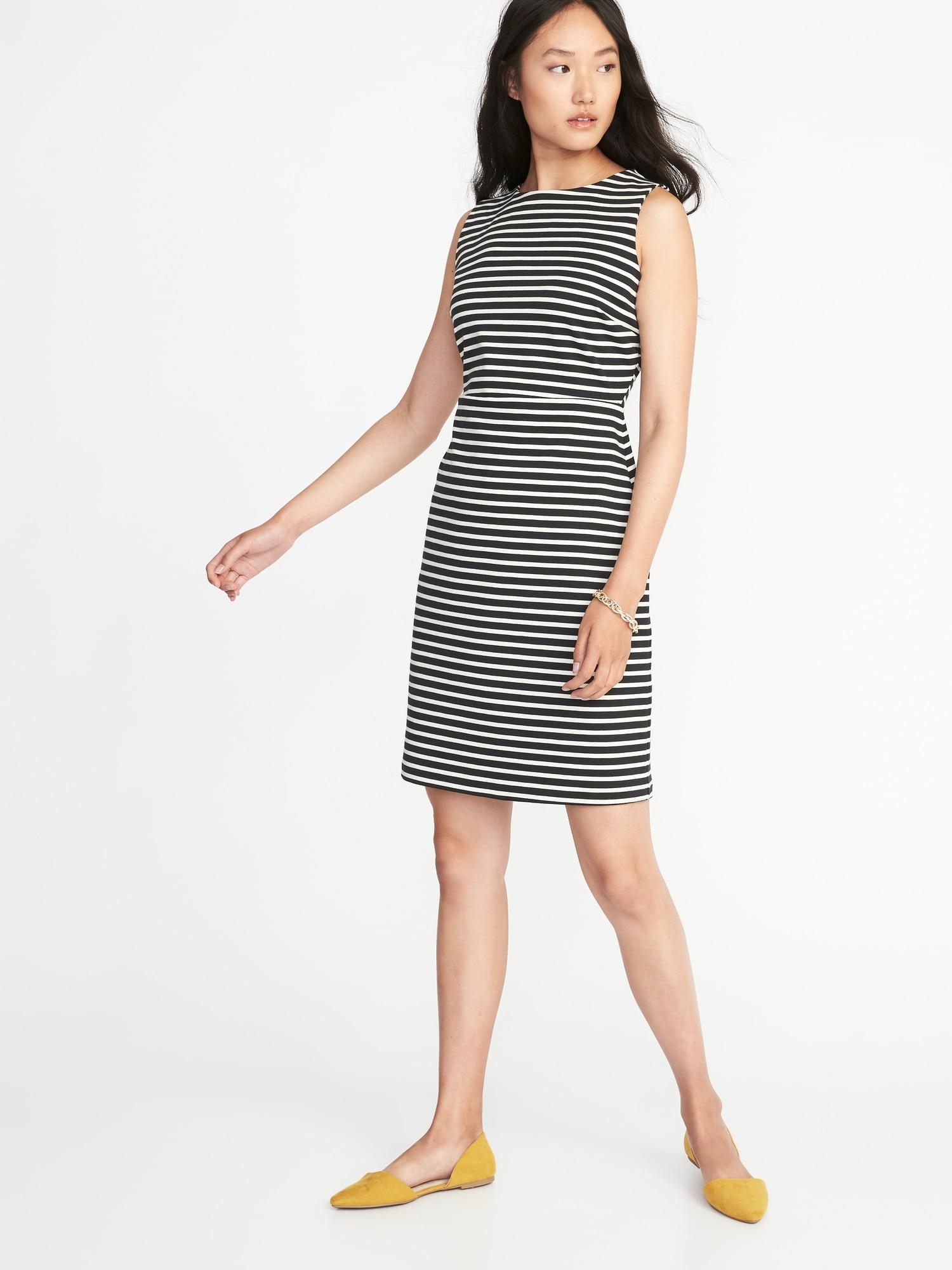 2e6f6477b62aa Sleeveless Ponte-Knit Sheath Dress for Women