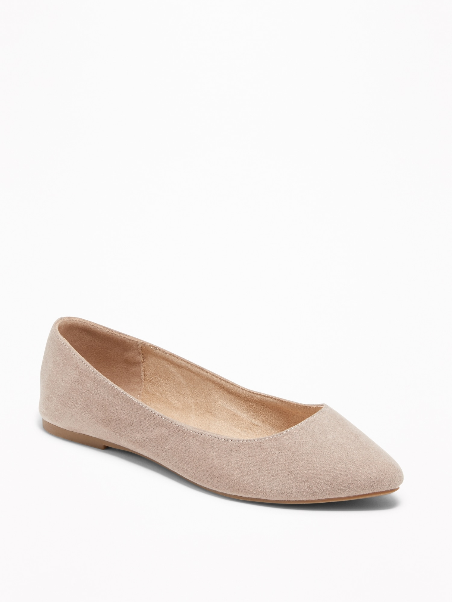02a1e0c40f Faux-Suede Pointy Ballet Flats for Women