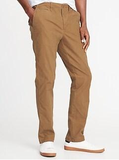Straight Lived-In Built-In Flex Khakis for Men