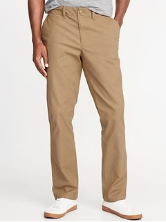 Straight Lived-In Built-In Flex Khakis for Men