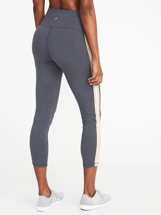 a67889edc04 High-Rise Side-Stripe 7 8-Length Yoga Leggings for Women
