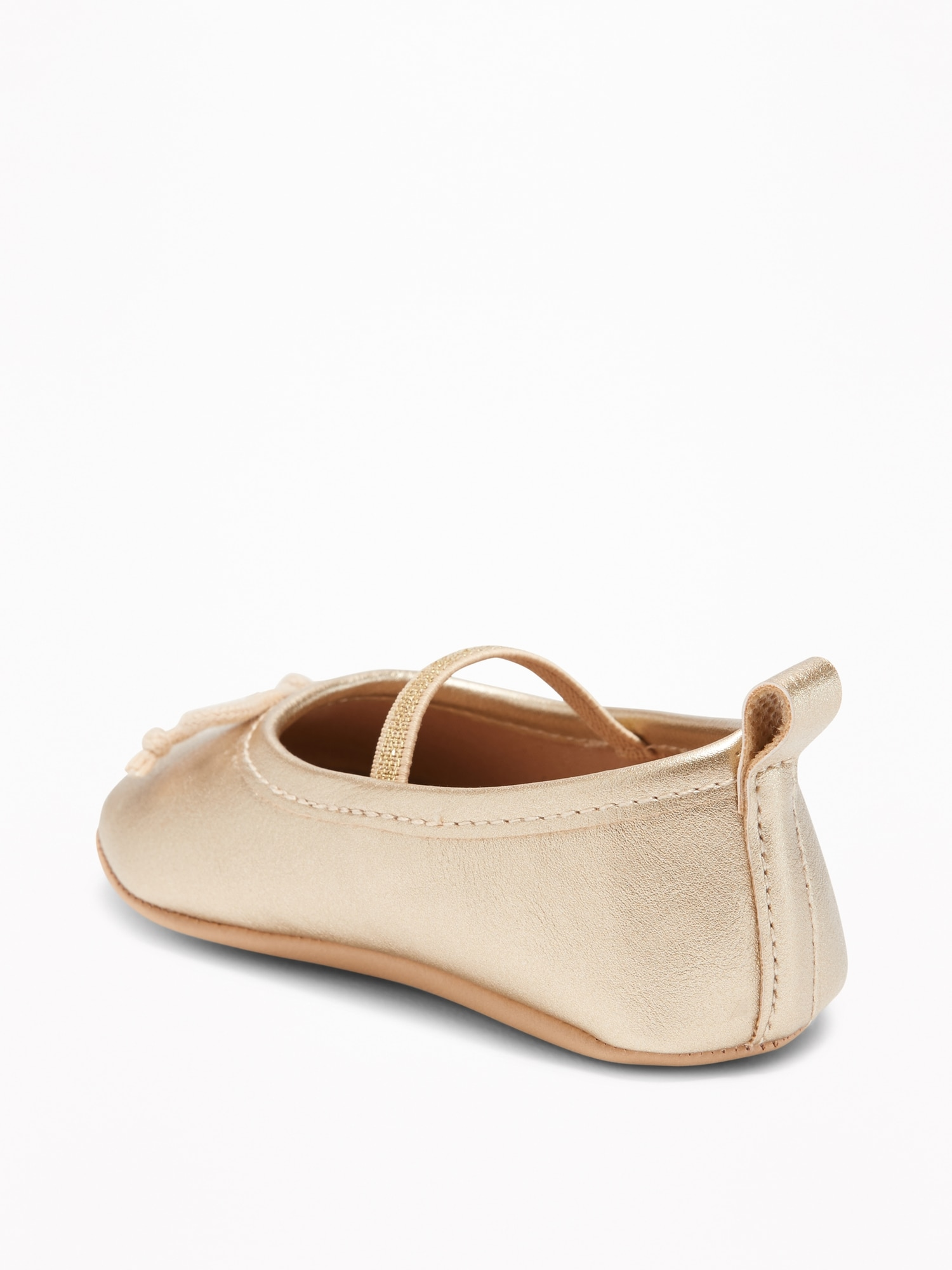 e49778ec549 Metallic Faux-Leather Ballet Flats for Baby