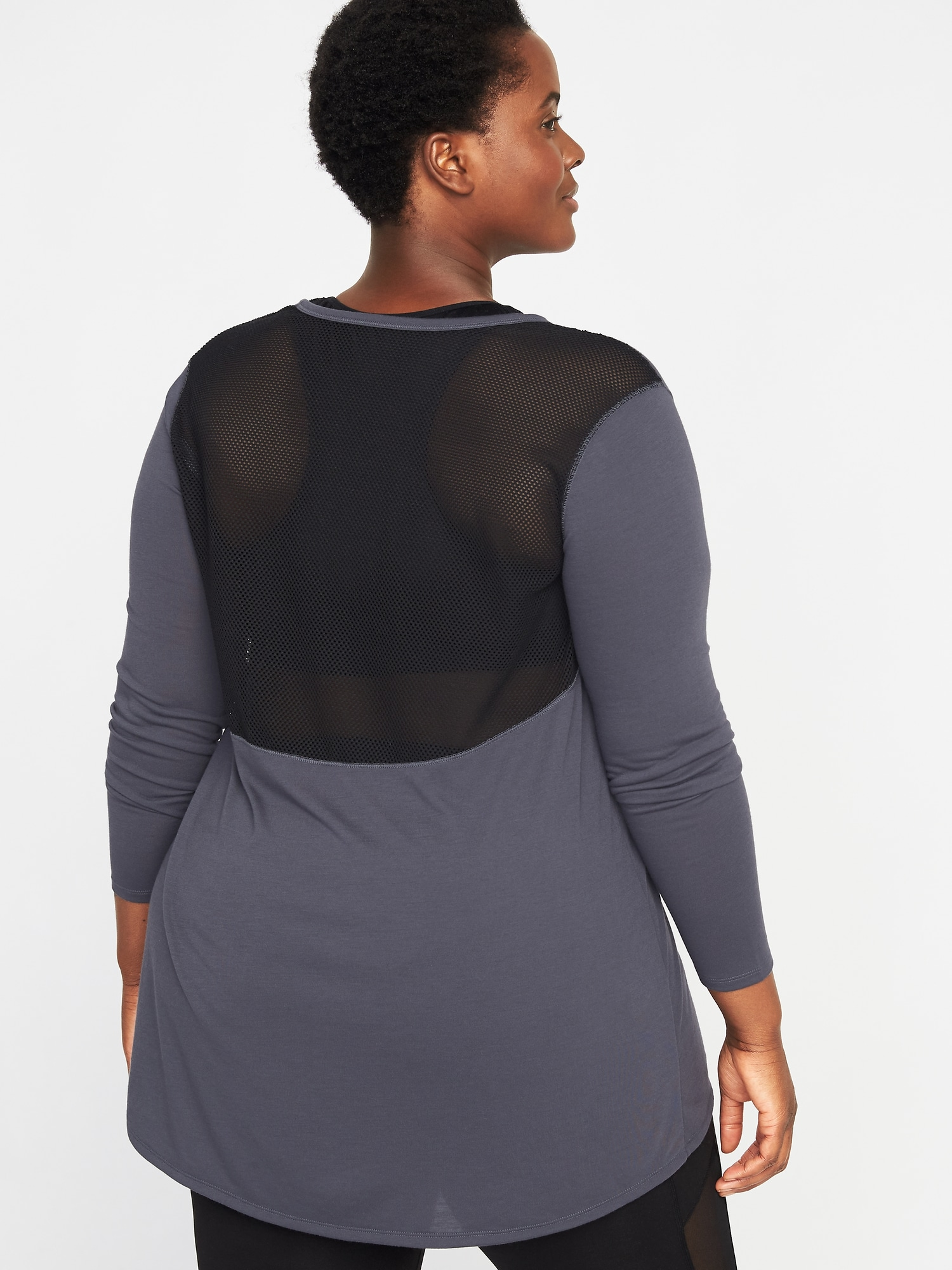 173063acad4 Jersey Mesh-Back Plus-Size Performance Top