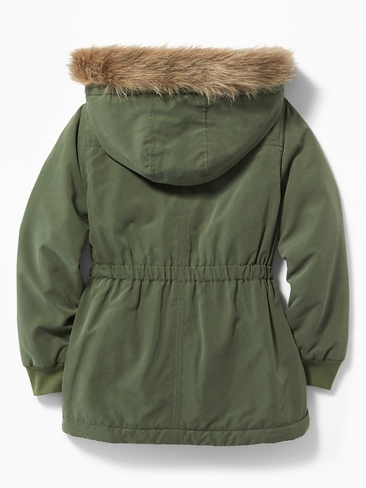 db950ced6312 Hooded Faux-Fur Trim Parka for Girls