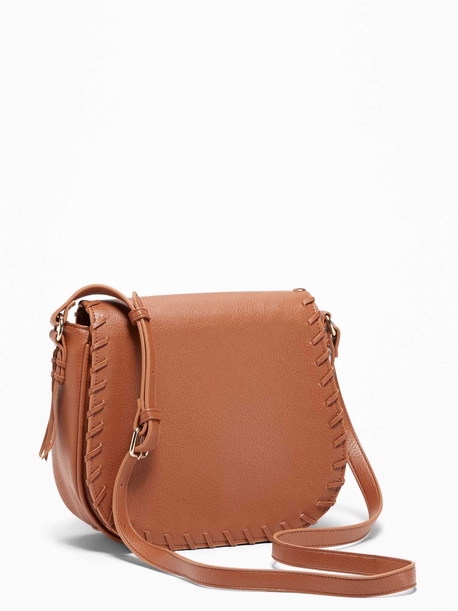 Whip-Stitch Crossbody Saddle Bag for Women  4913cd6a8f9d8