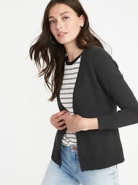 V-Neck Button-Front Cardi for Women