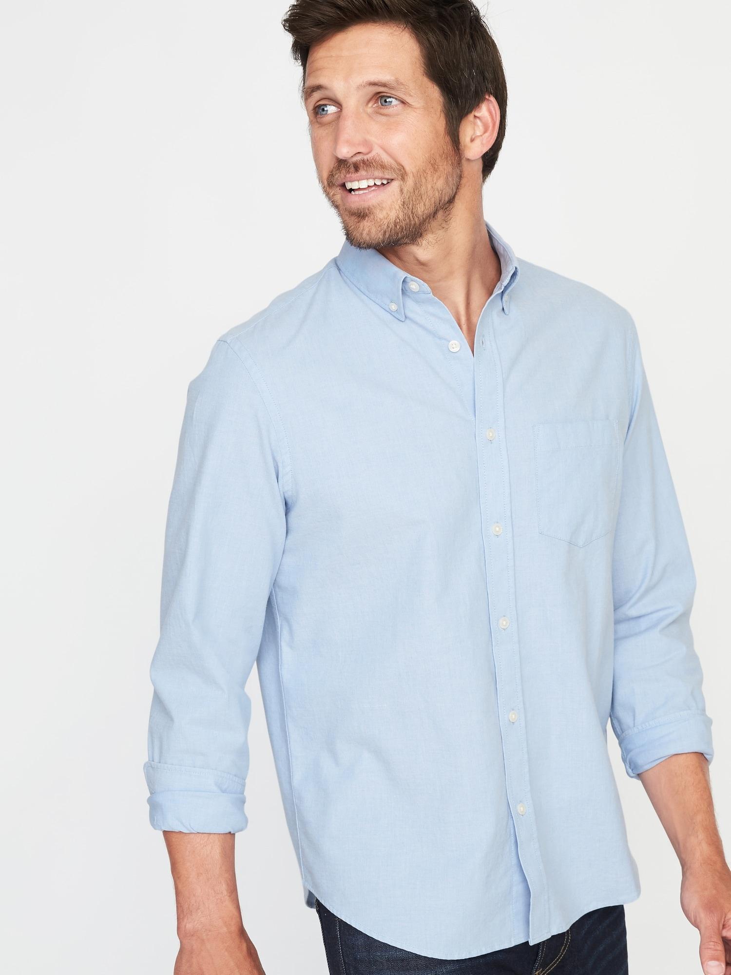 adfd9e9a9f5 Regular-Fit Built-In Flex Everyday Oxford Shirt for Men