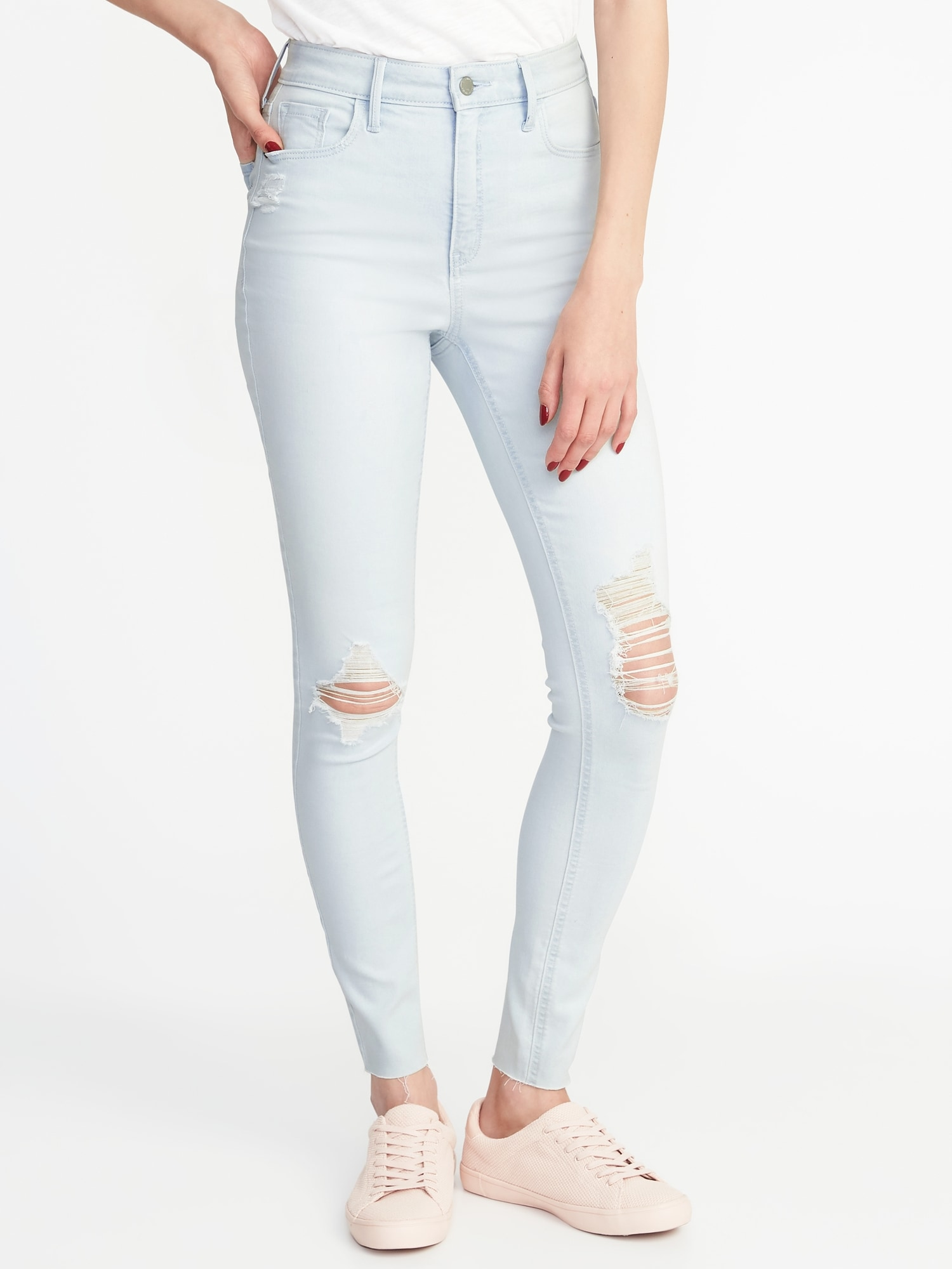 84612ff8e42 High-Rise Secret-Slim Pockets Rockstar Ankle Jeans for Women | Old Navy