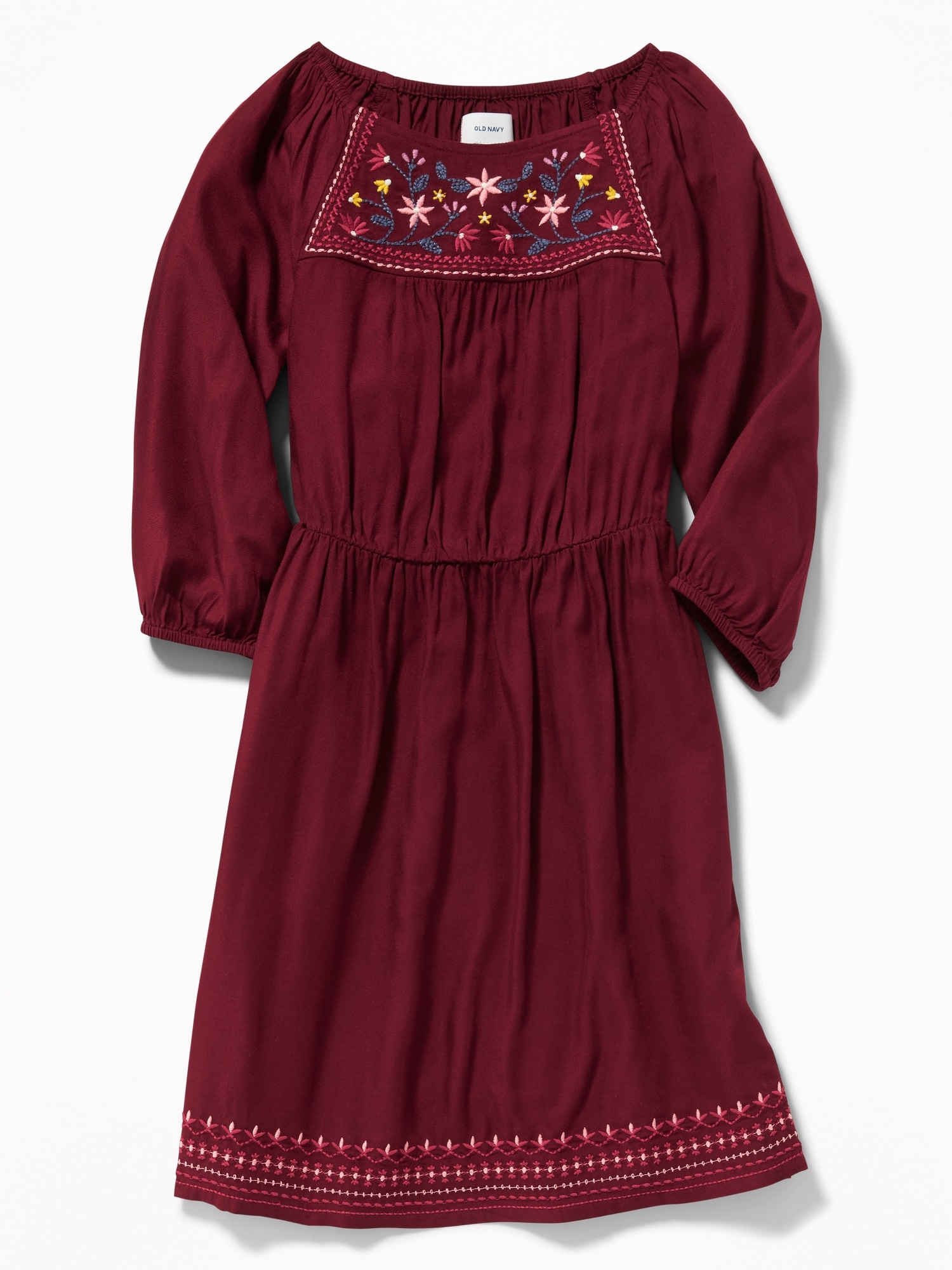 0c15026df8f Embroidered Cinched-Waist Dress for Girls