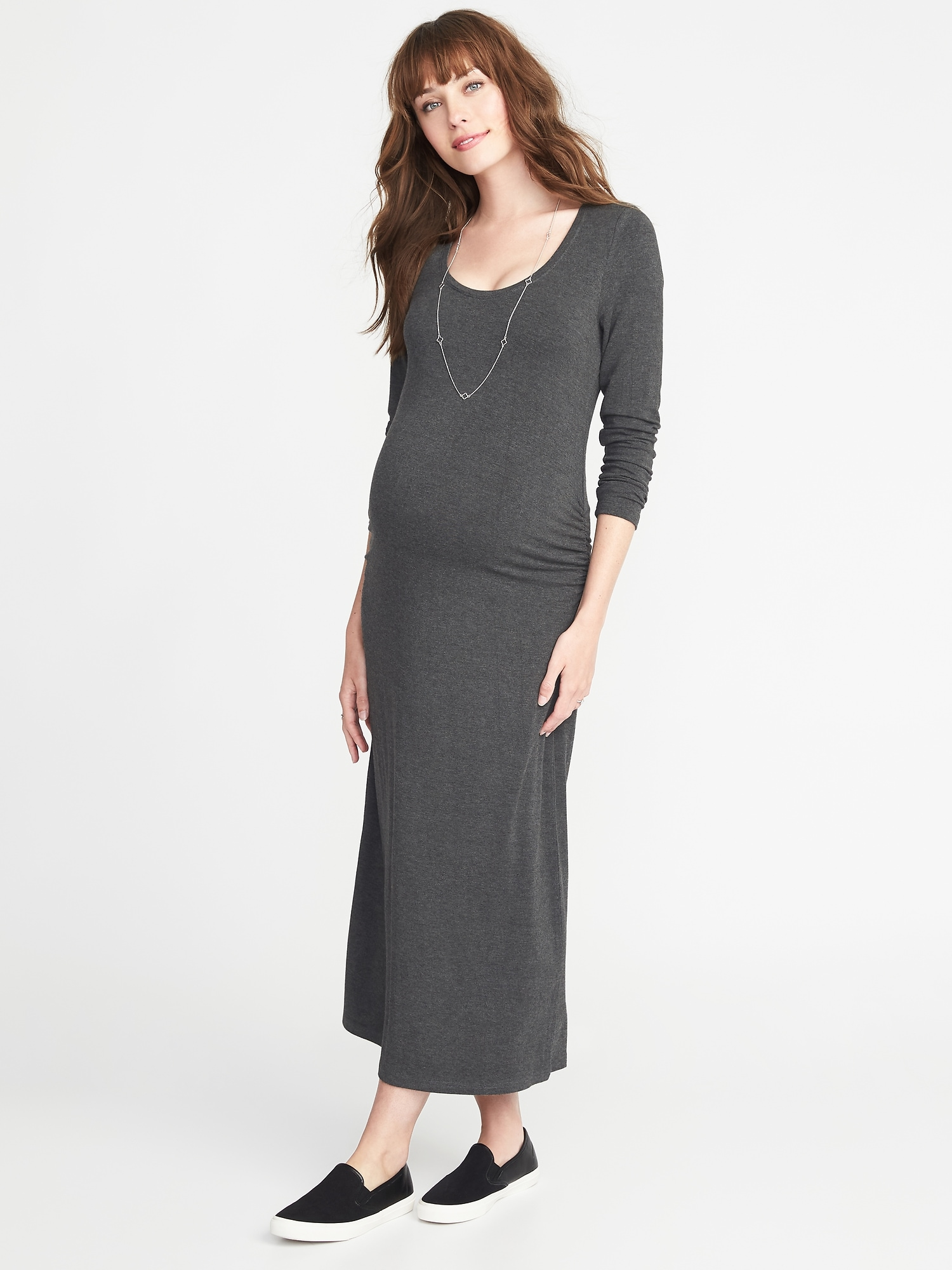 8aacbaf8da0 Maternity Scoop-Neck Jersey Maxi Dress