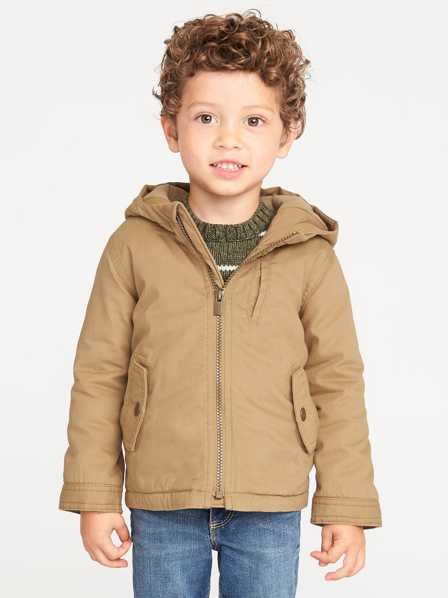 Hooded Canvas Utility Jacket For Toddler Boys Old Navy Jaket Parka Blazer Baby Cotton