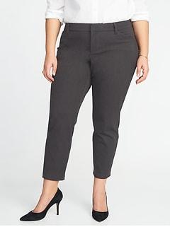 Mid-Rise Plus-Size Secret-Slim Pockets Pixie Pants