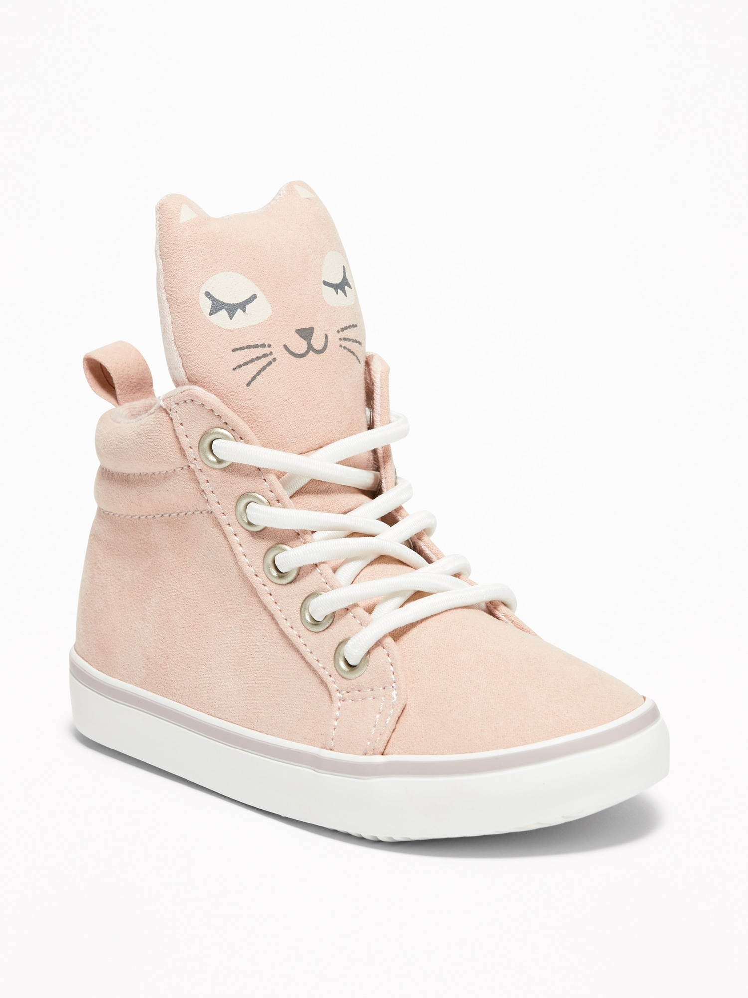 watch cbc9e 5c0e0 Sueded Kitty High-Top Sneakers For Toddler Girls