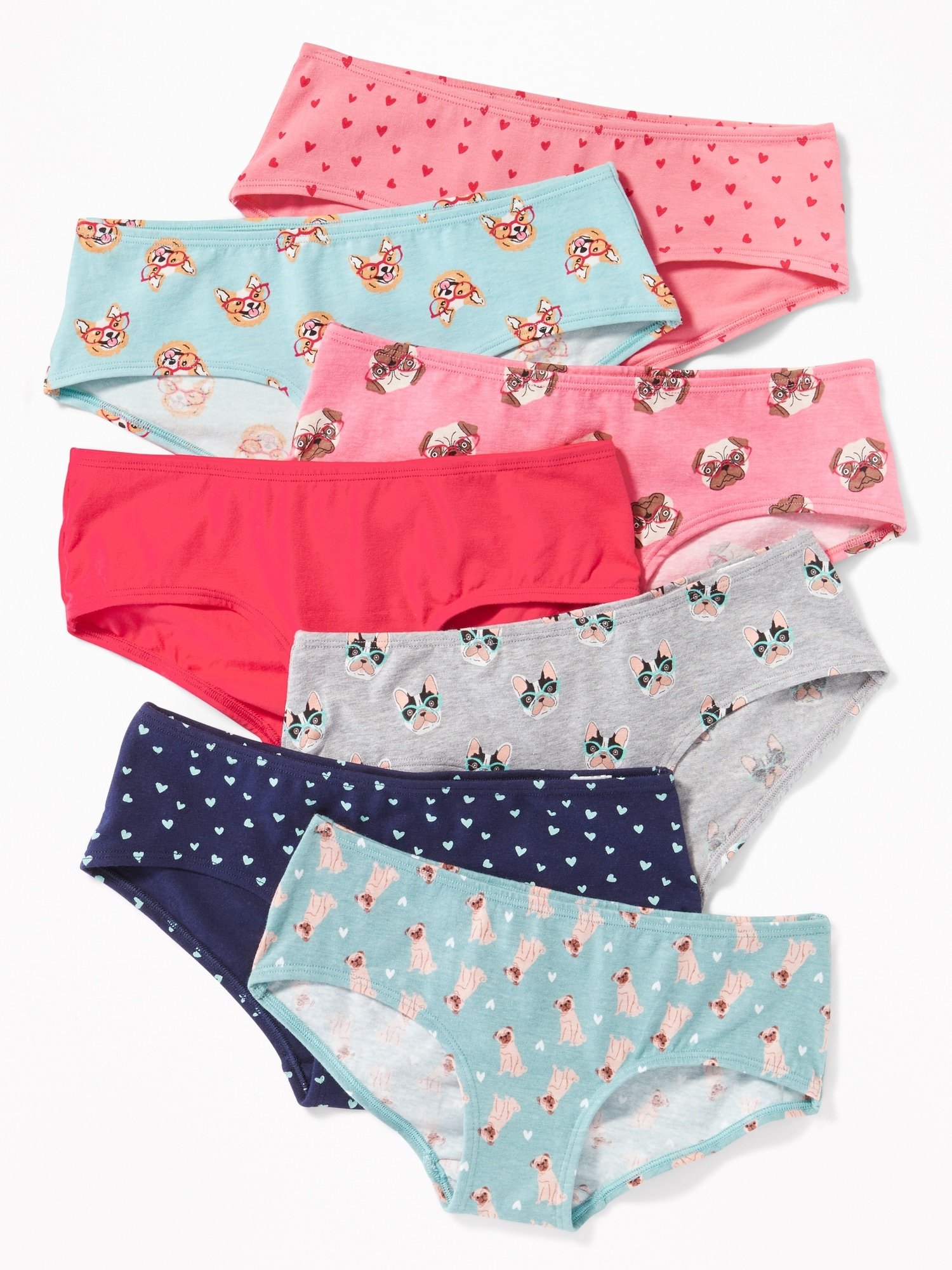 b6363f234e6 Printed Hipster Underwear 7-Pack for Girls