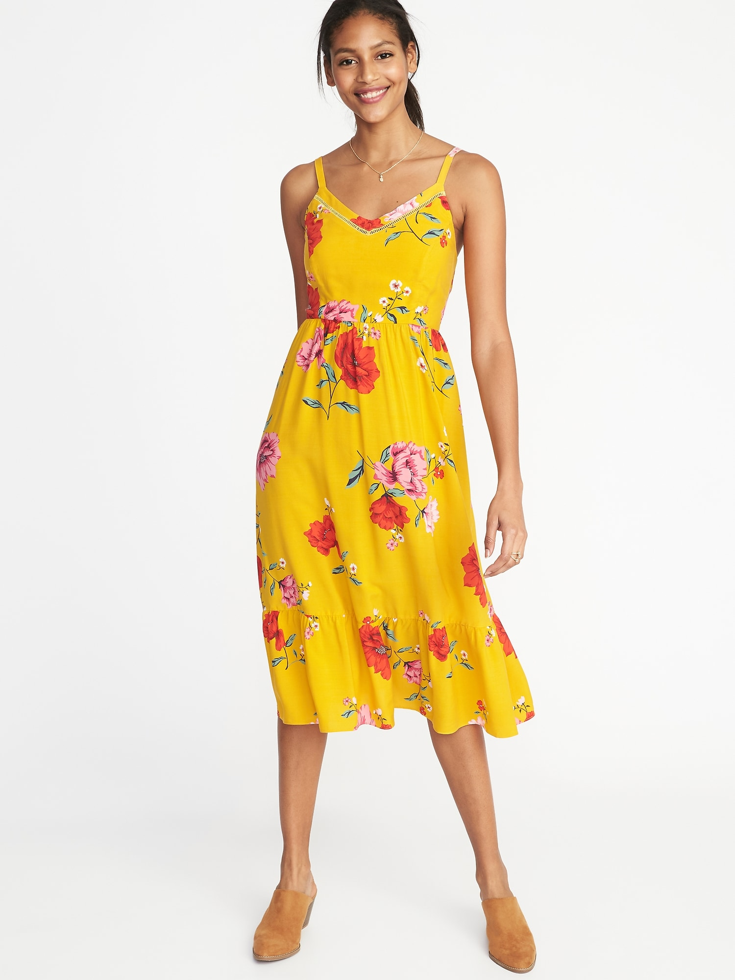3870764efced Fit & Flare Cami Midi Dress for Women   Old Navy