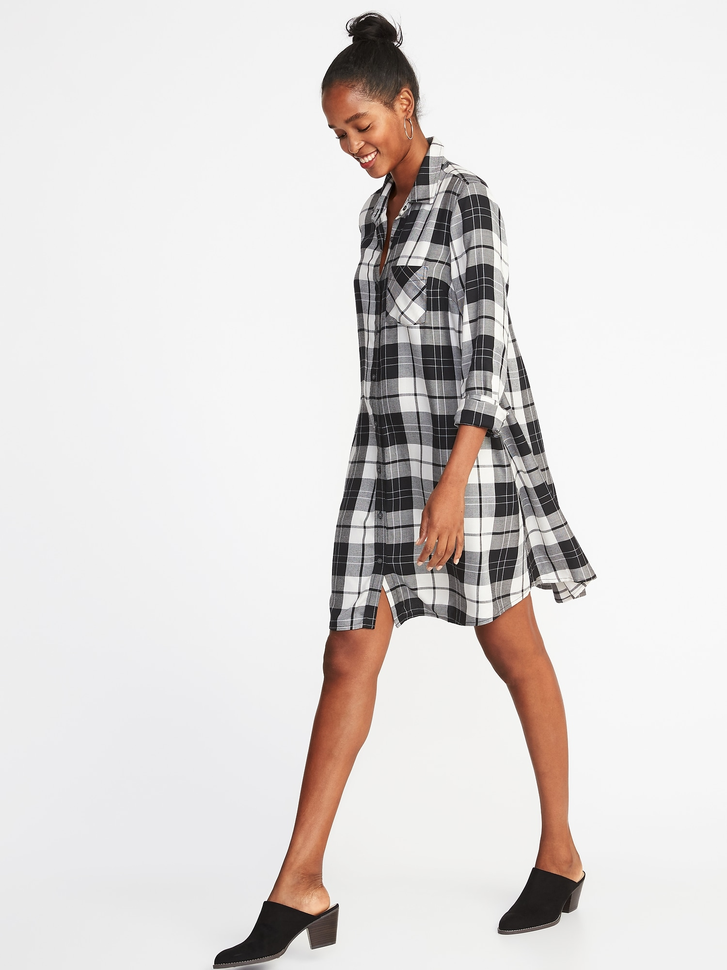 25b96527aa295 Plaid Swing Shirt Dress for Women | Old Navy
