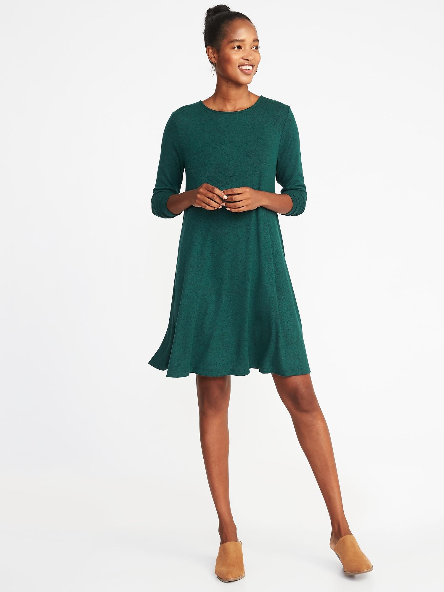 657c92ae06 Plush-Knit Swing Dress for Women
