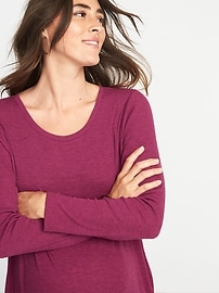 e421abdfd Maternity Rib-Knit Crew-Neck Tunic