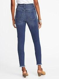 e108574767605 High-Rise Secret-Slim Pockets Raw-Edge Rockstar Ankle Jeans for Women