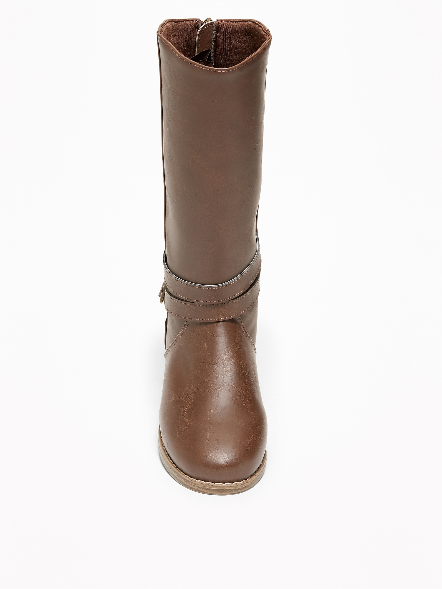 0b419d8e9 Tall Faux-Leather Buckled Boots for Girls | Old Navy