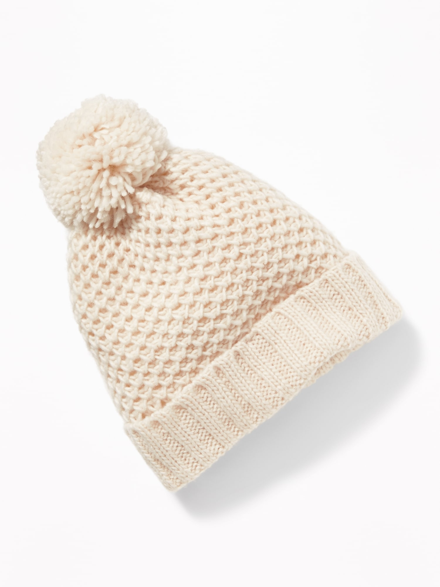 Honeycomb-Knit Pom-Pom Beanie for Baby  e3a025ee1b19