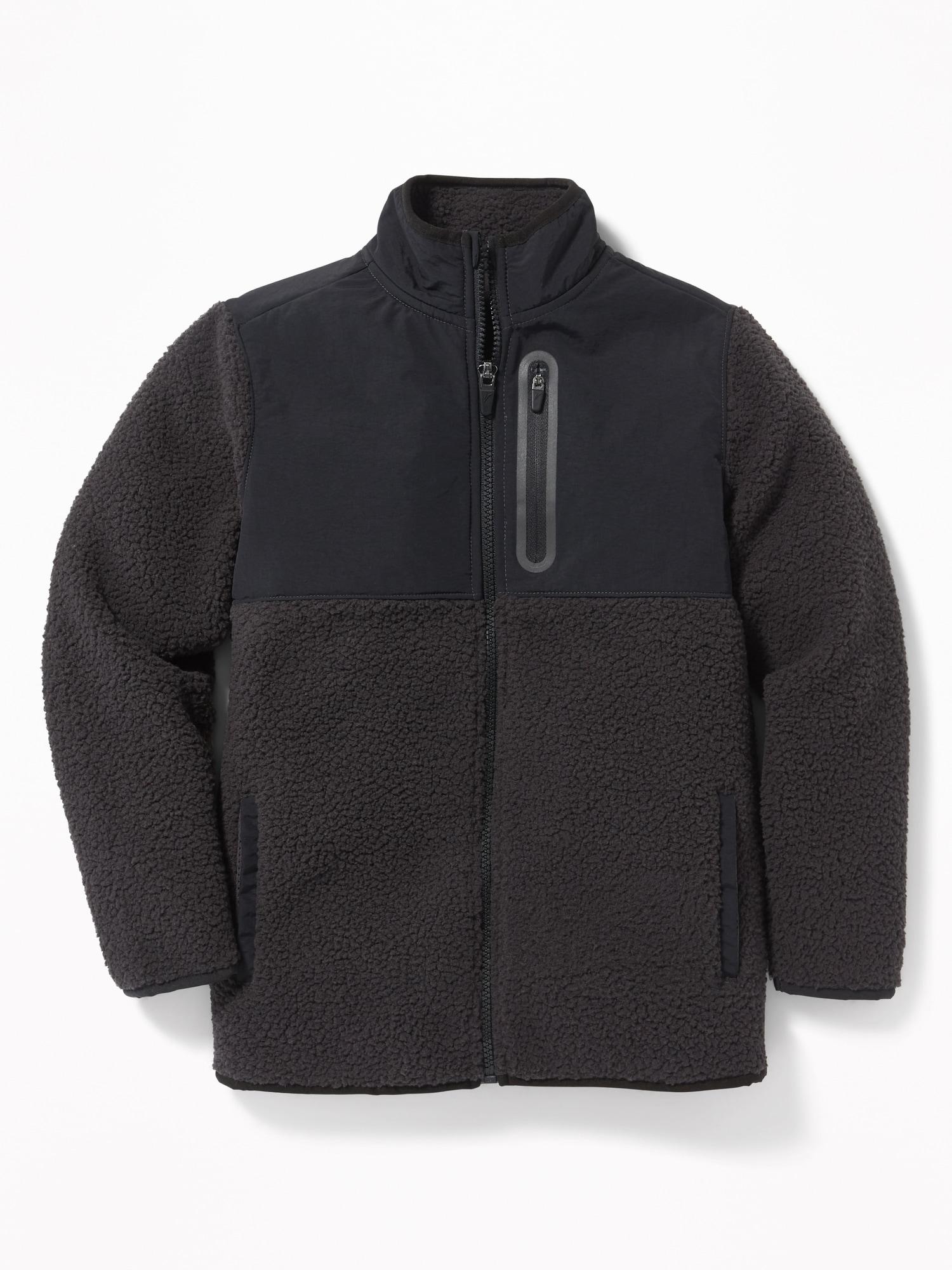 112278004 Go-Warm Color-Blocked Sherpa Zip Jacket for Boys