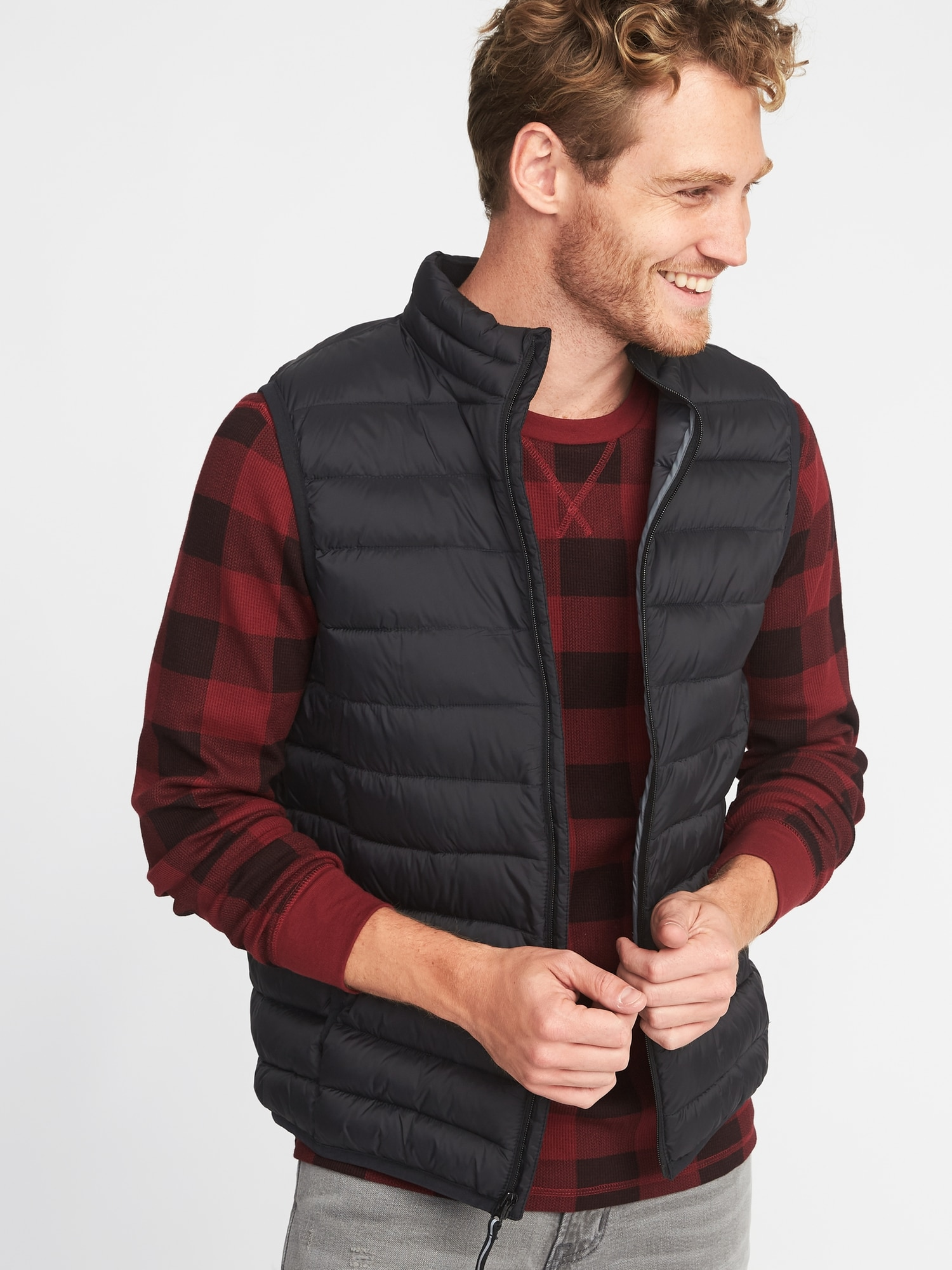 2ea34186216 Packable Water-Resistant Quilted Vest for Men
