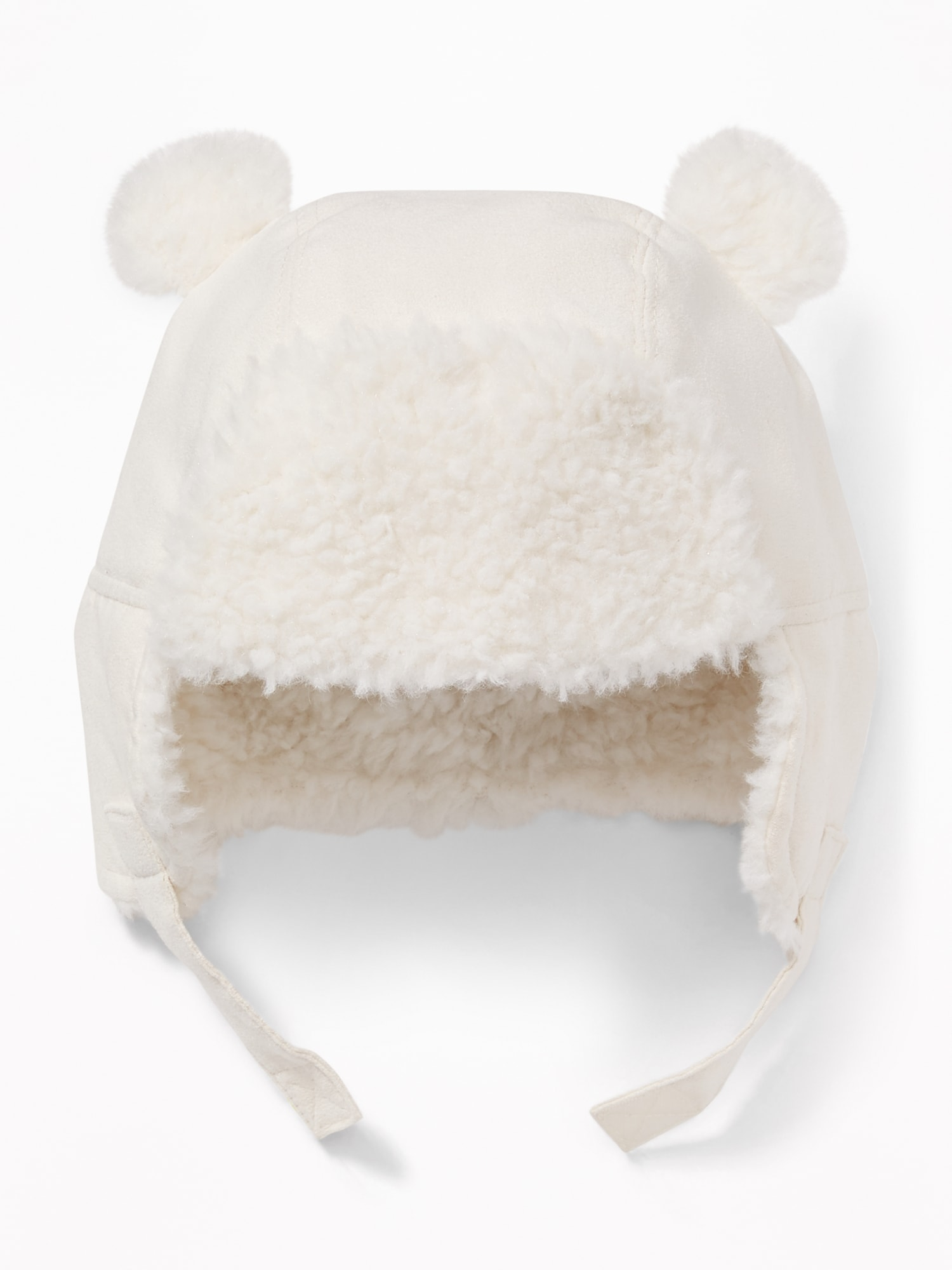 Faux-Suede Sherpa-Trim Trapper Hat for Baby  bdc9c97b49c