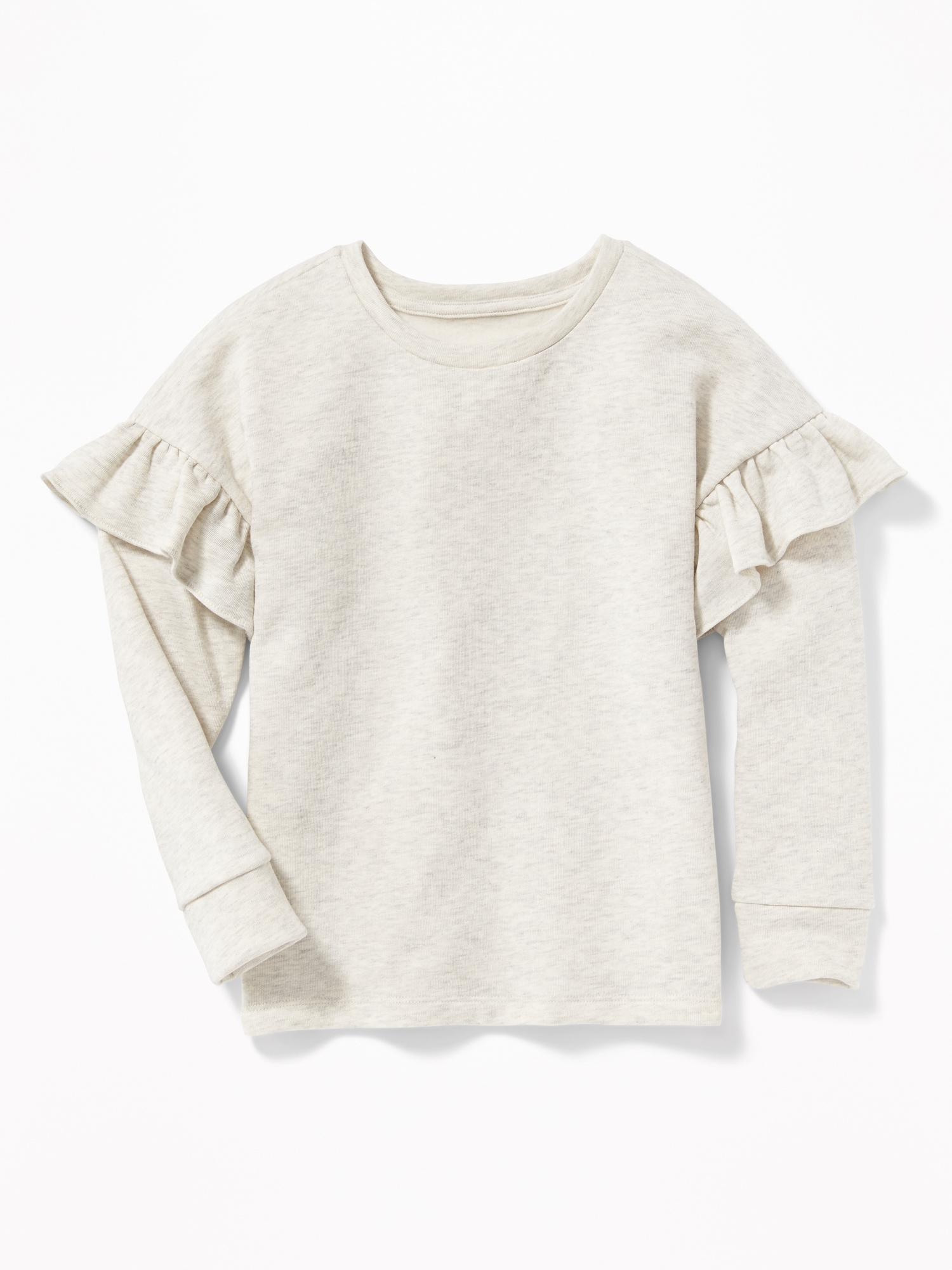 cb098ee5fea Relaxed Ruffle-Trim Sweater for Girls | Old Navy
