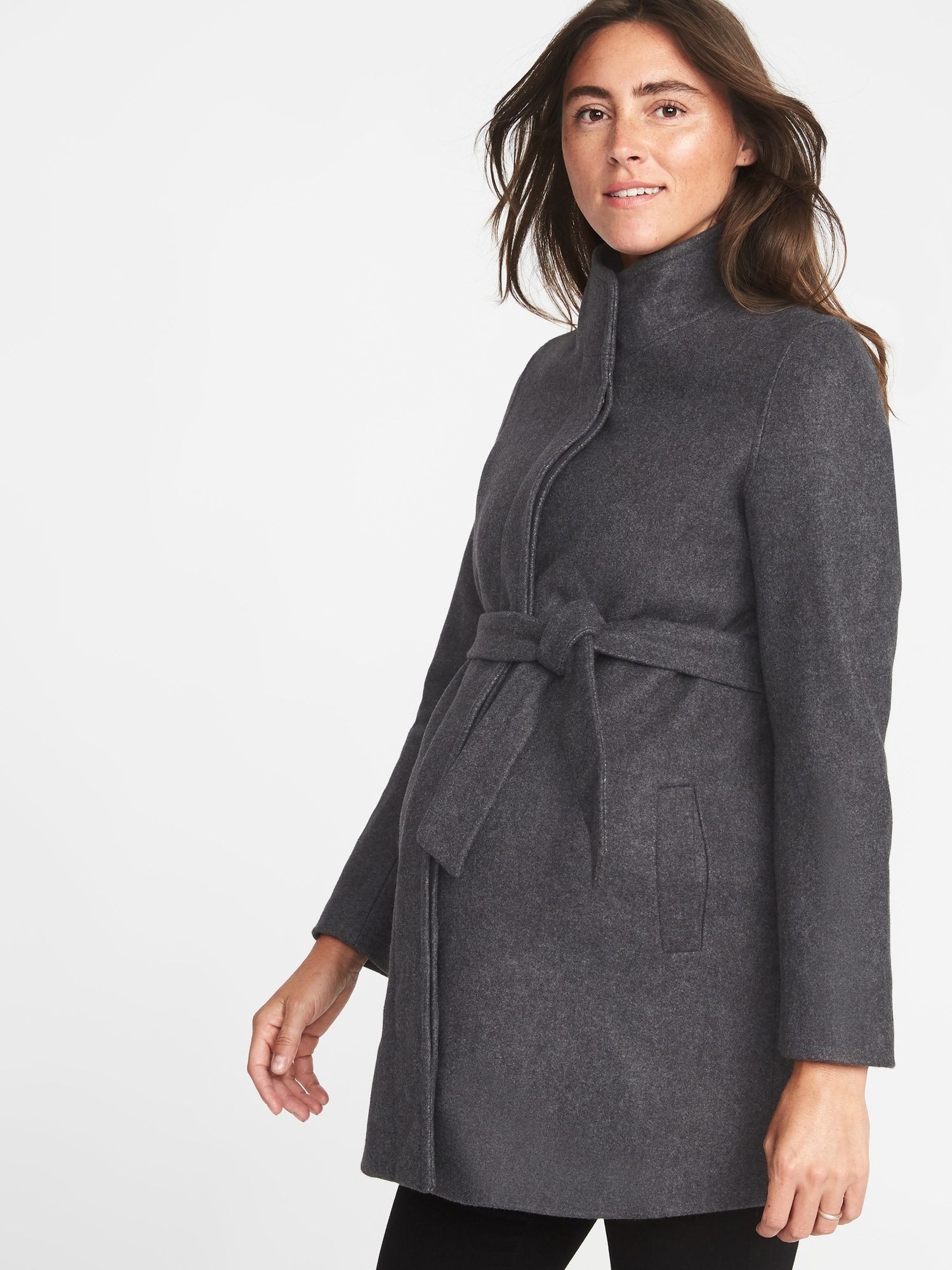 1f6343bb4041b Maternity Funnel-Neck Coat | Old Navy