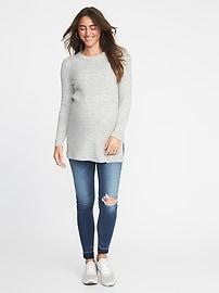 611f22540da Maternity Plush Rib-Knit Tunic Sweater | Old Navy