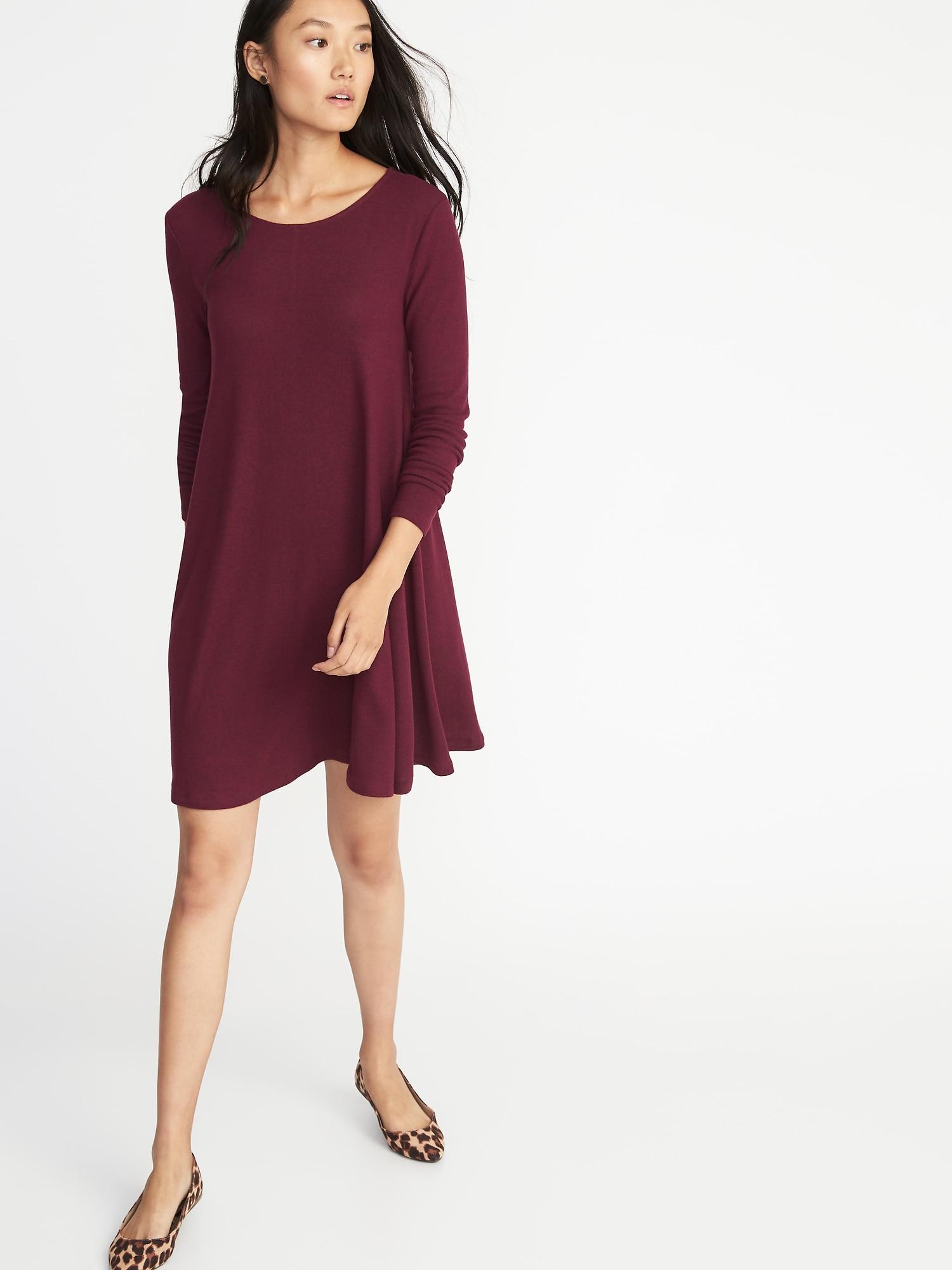 9f5ee10195b Plush-Knit Swing Dress for Women