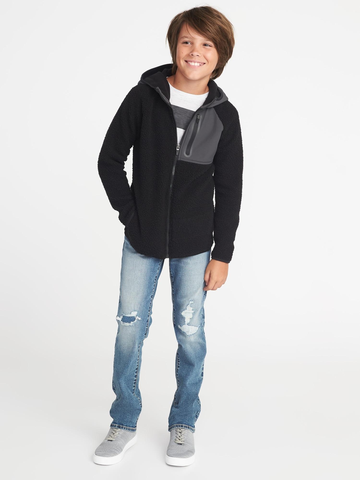 cc0ce2f8c Go-Warm Hooded Sherpa Hybrid Jacket for Boys