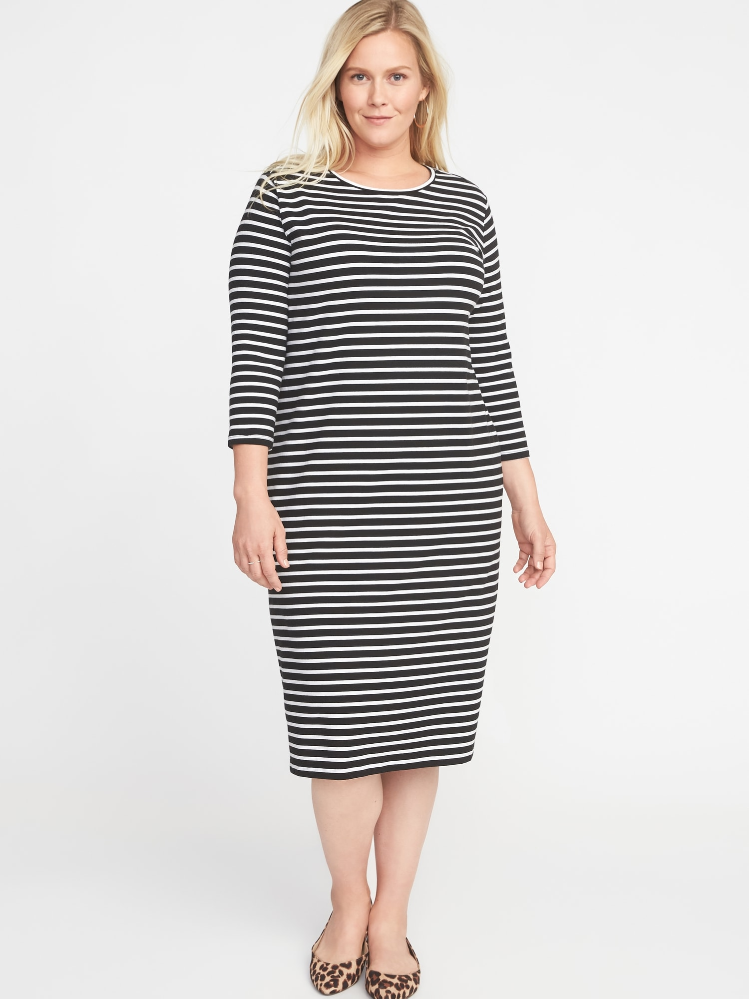 42731a55f69 Relaxed Plus-Size Midi Tee Dress