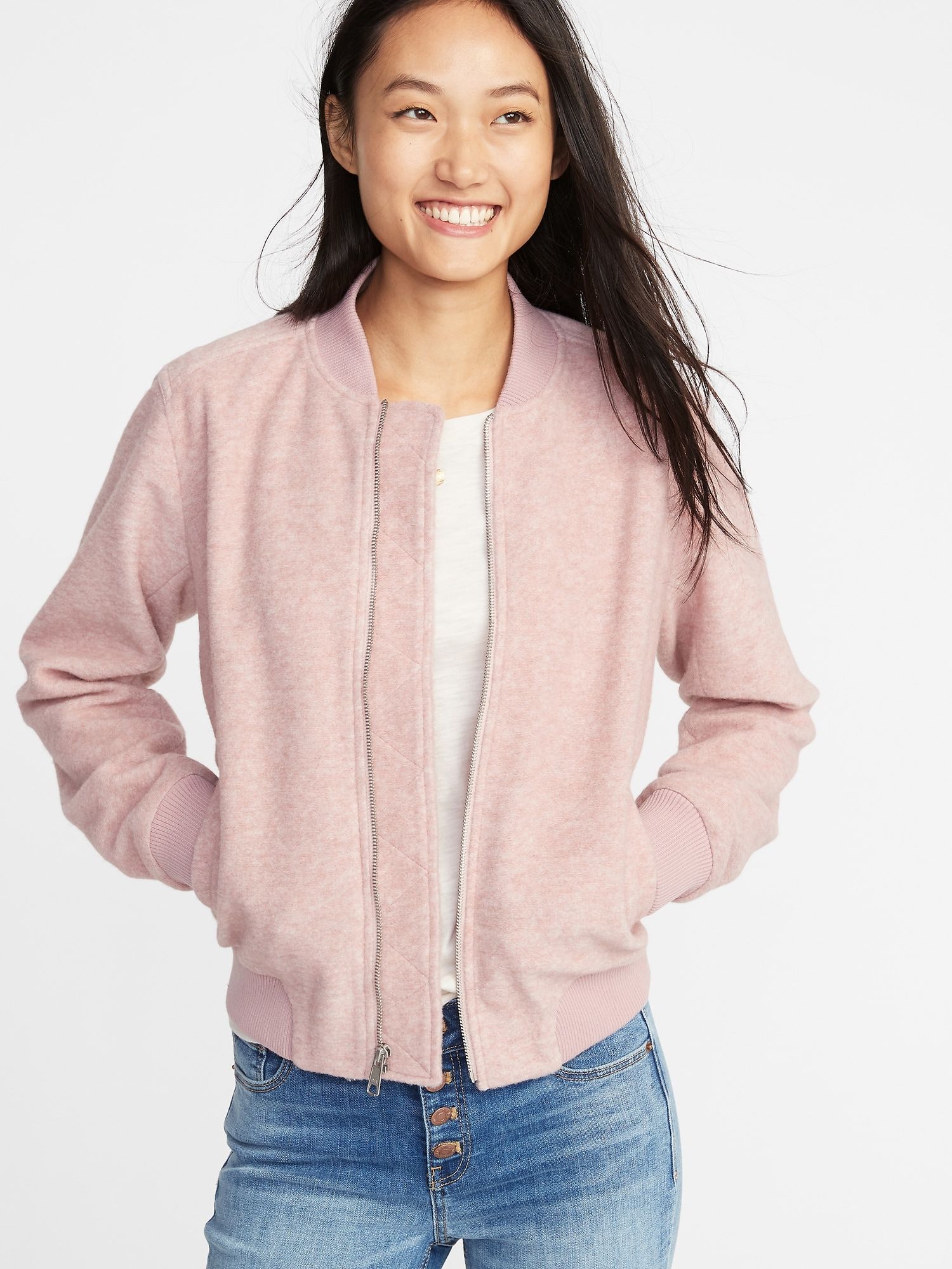 36f7390dd2 Textured Jacquard Zip Bomber Jacket for Women | Old Navy