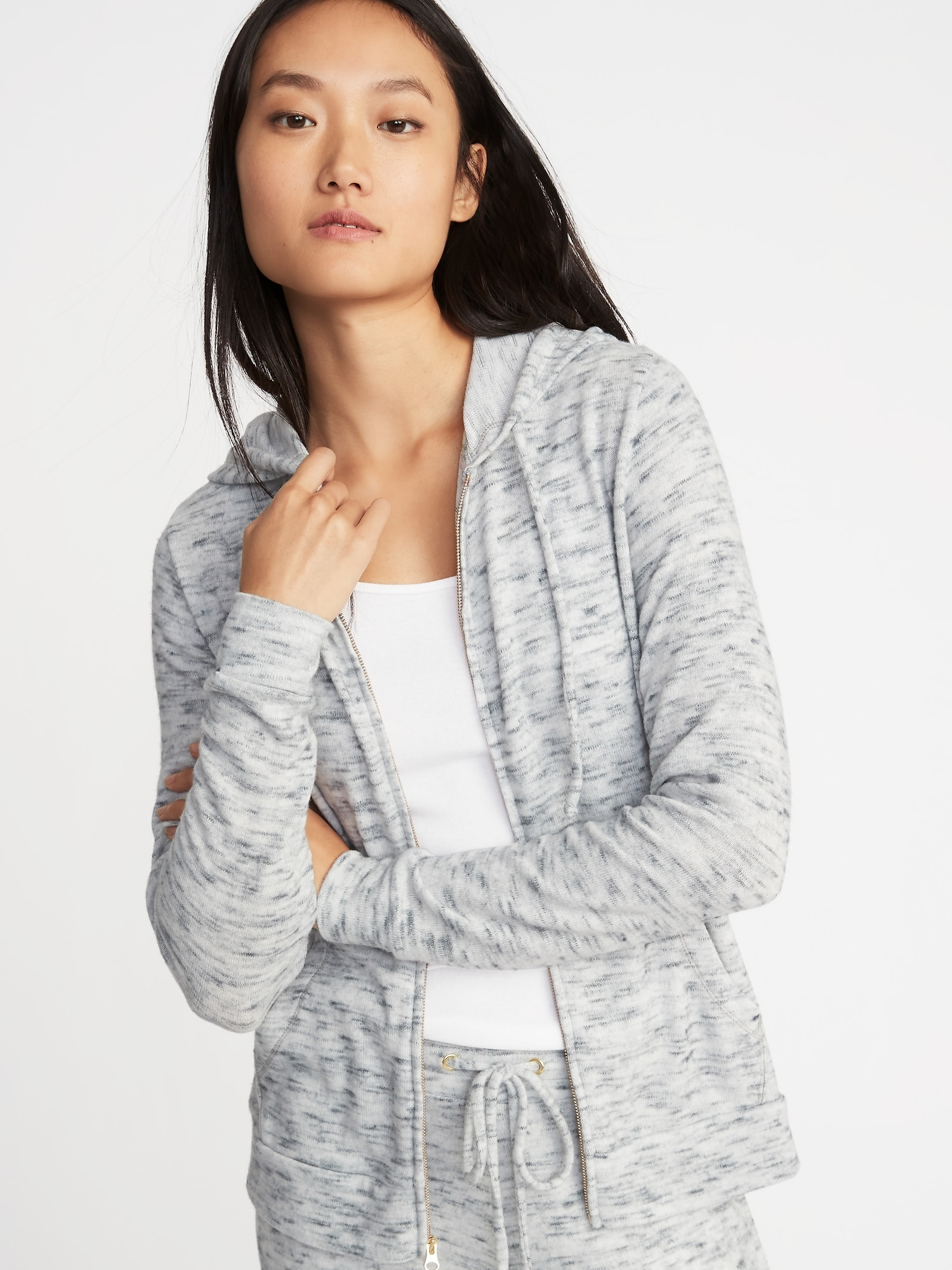 6f276bd69 Relaxed Plush-Knit Lounge Hoodie for Women | Old Navy