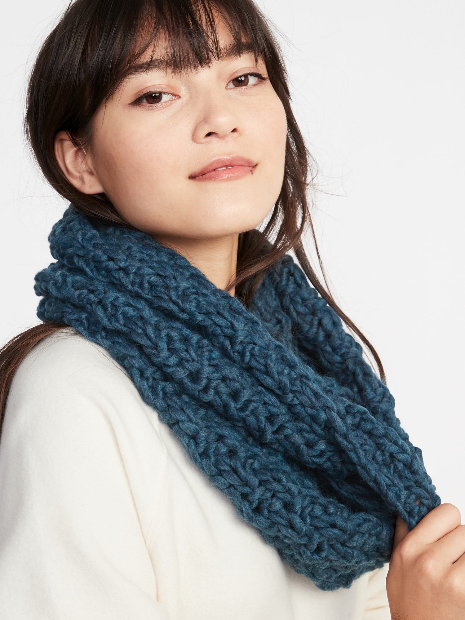 75d8d458450 Textured Basket-Weave Infinity Scarf for Women