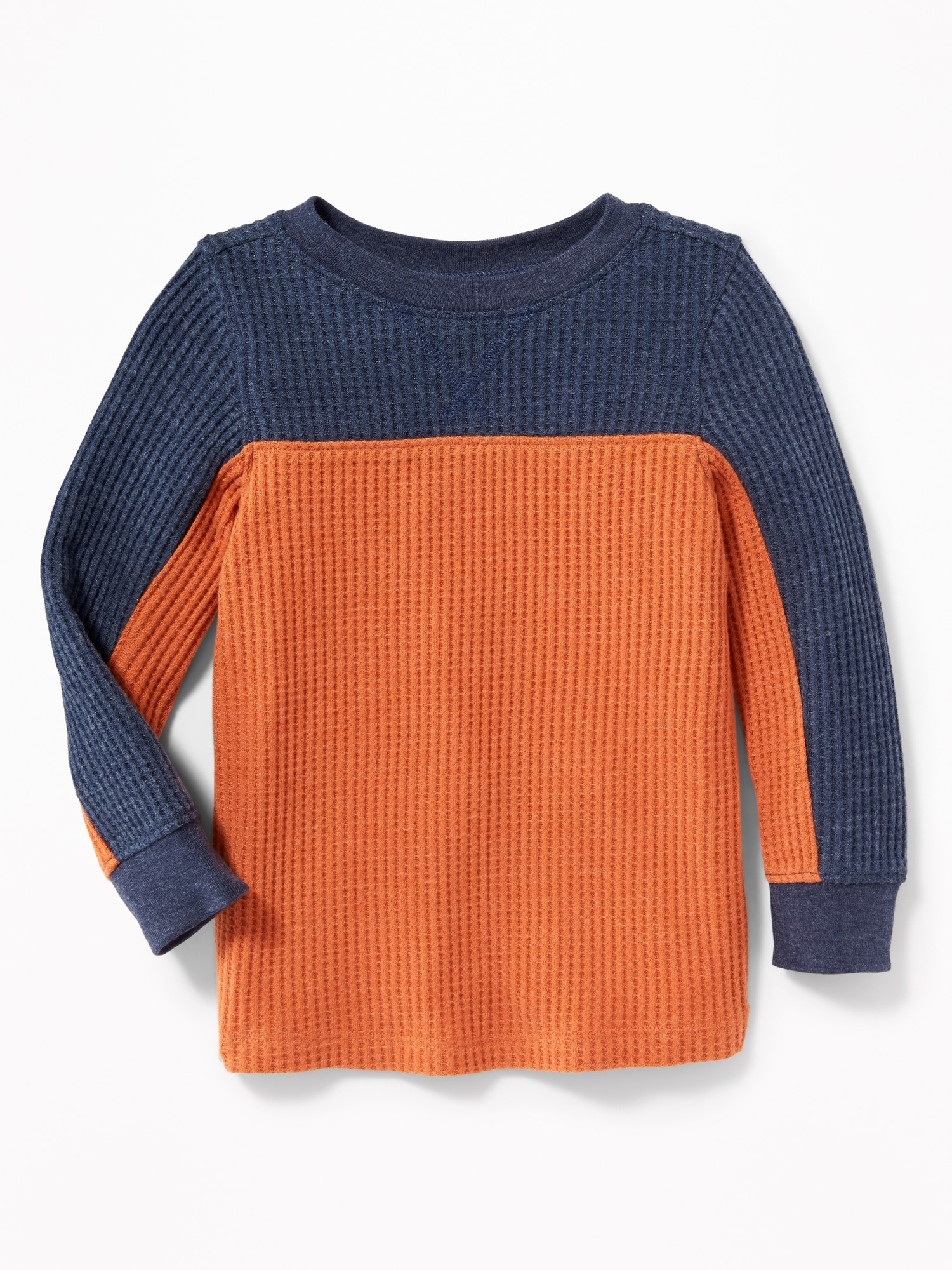 129fe2fd Chunky Color-Block Thermal Tee for Toddler Boys | Old Navy