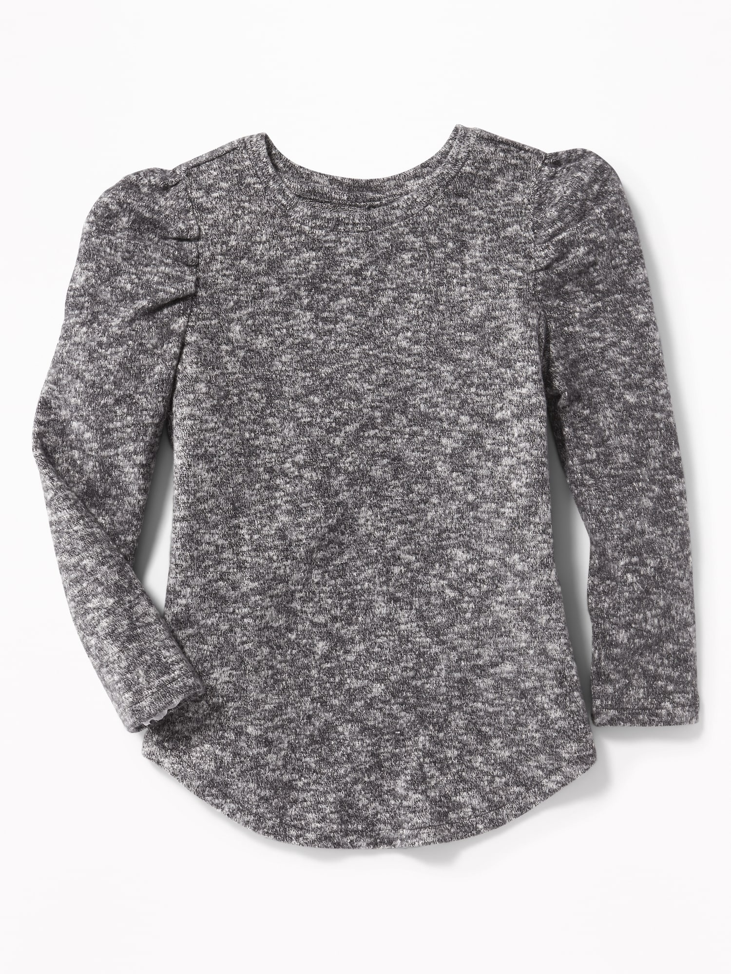 841660a39 Sweater-Knit Puff-Sleeve Top for Girls