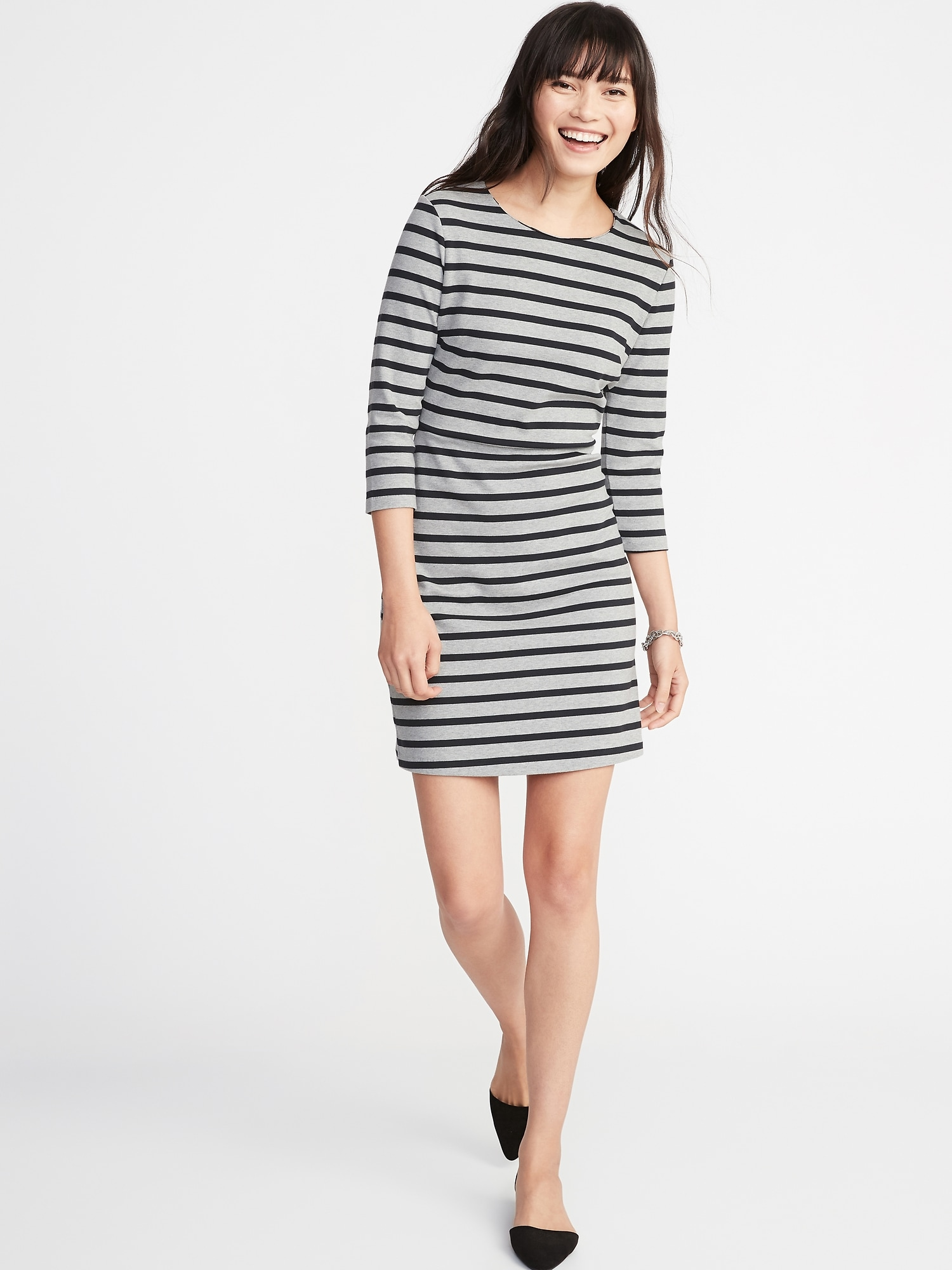 d9f92f19bd0b4b Patterned Ponte-Knit Sheath Dress for Women