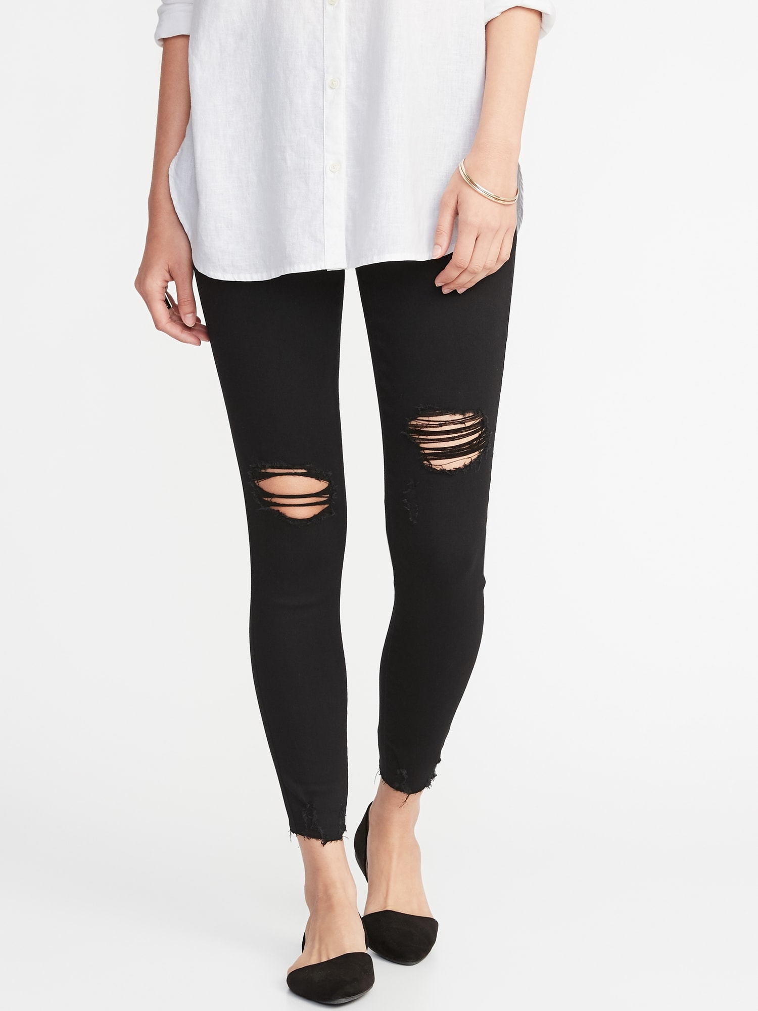 1bbe0c97df2f5 Distressed Rockstar Jeggings for Women | Old Navy