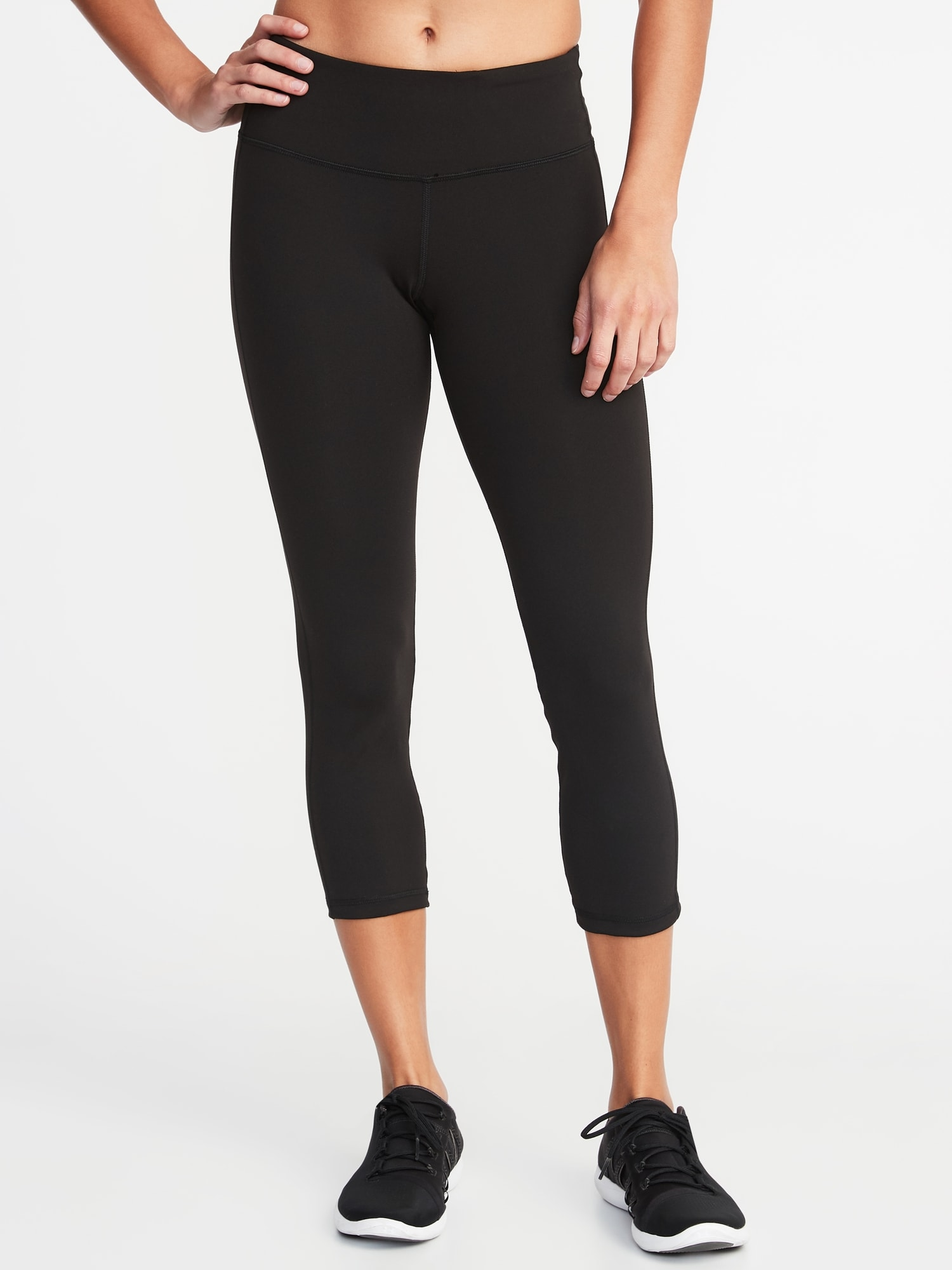 Mid Rise Elevate Compression Crops For Women Old Navy
