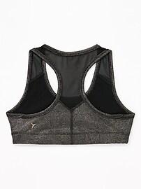 1d09d288165fa Go-Dry Cool Mesh-Trim Racerback Sports Bra for Girls