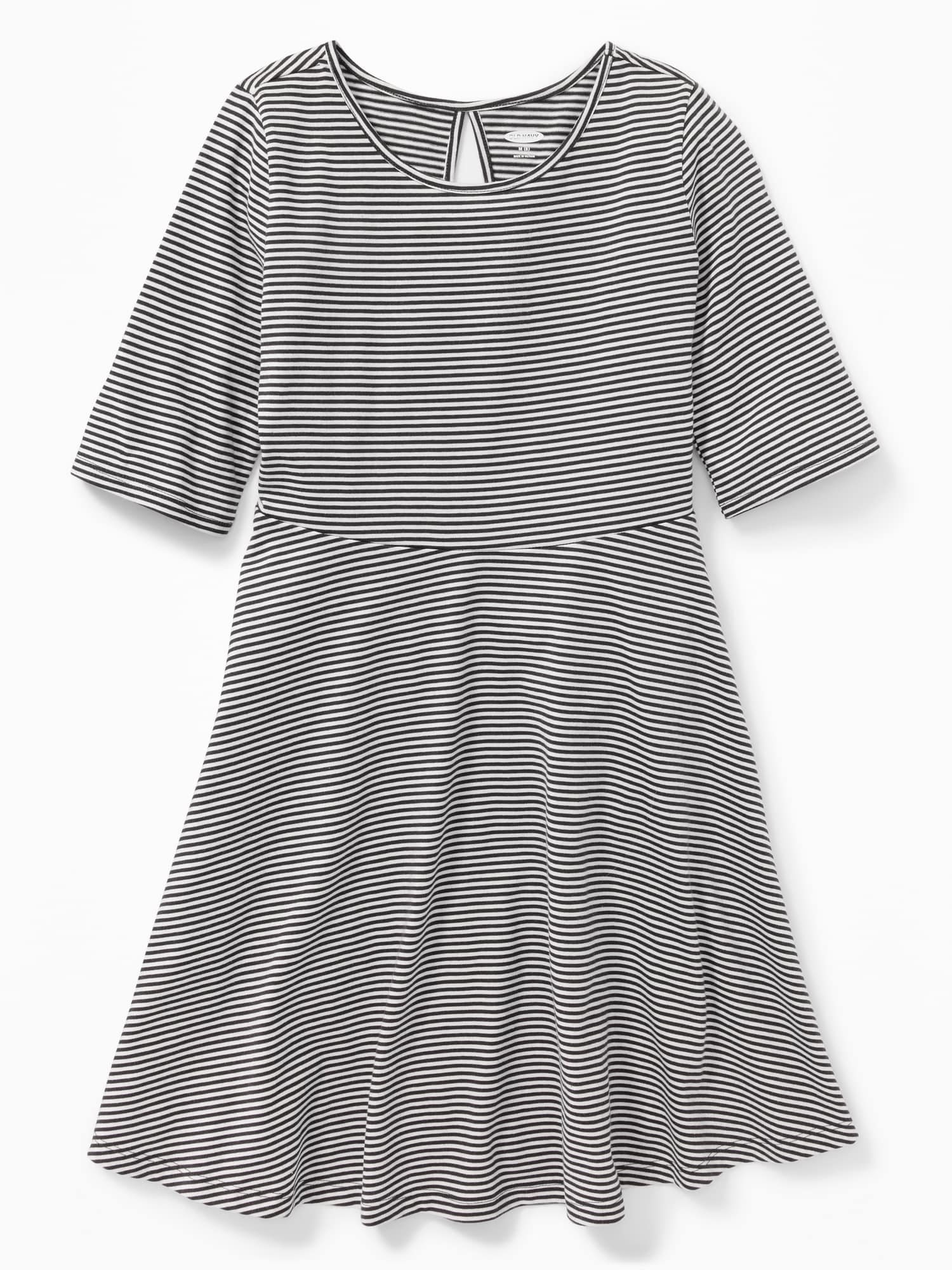 cec760851 Patterned Jersey Fit   Flare Dress for Girls